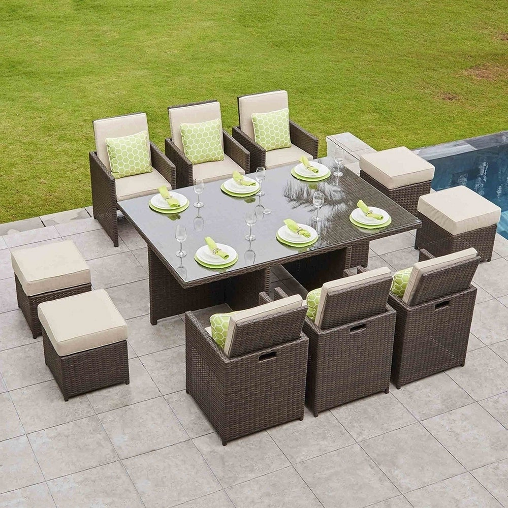 Buy Size 11 Piece Sets Outdoor Dining Sets Online At Overstock (View 18 of 20)
