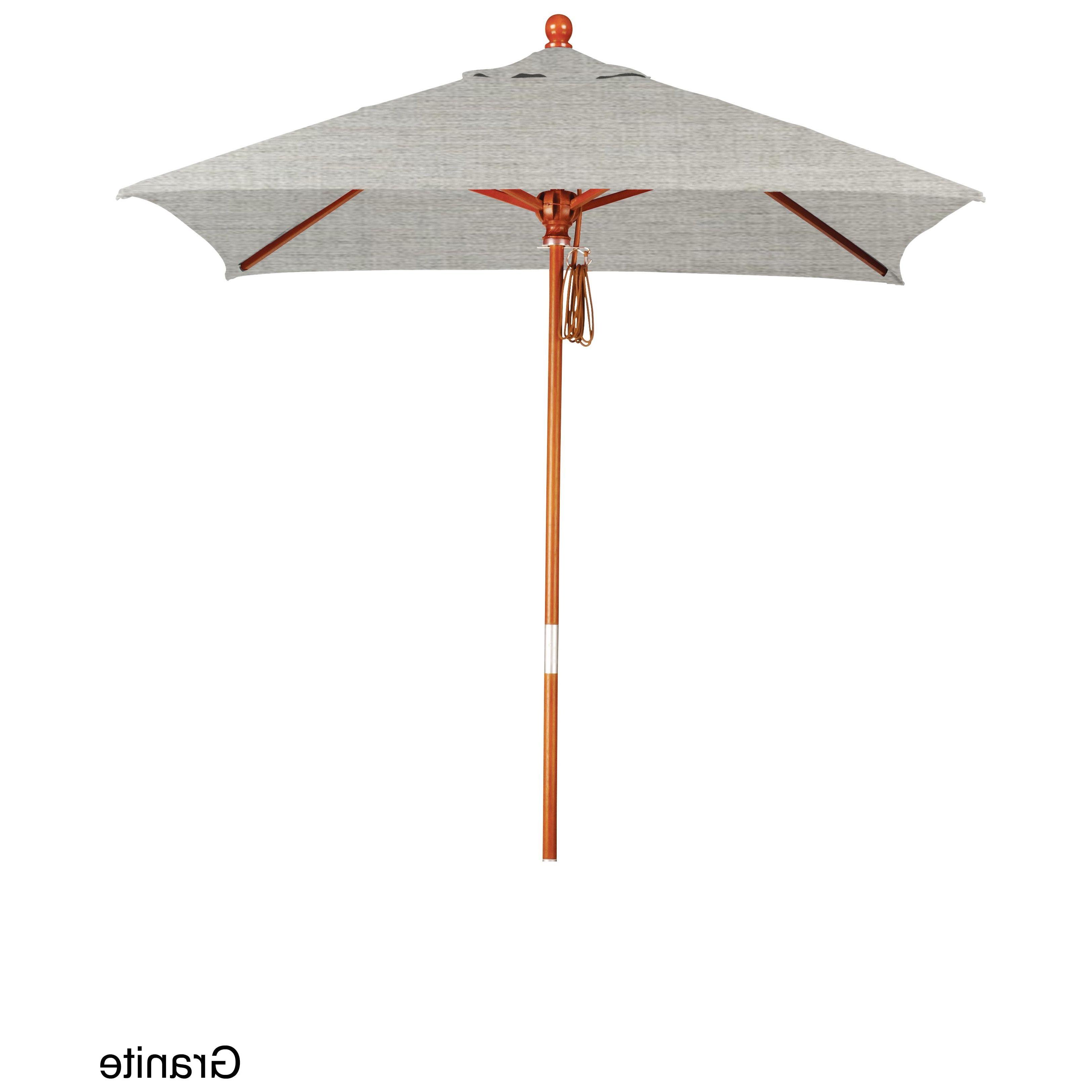 California Umbrella 6' Square Marenti Wood Frame Market Umbrella For Famous Dena Rectangular Market Umbrellas (View 20 of 20)