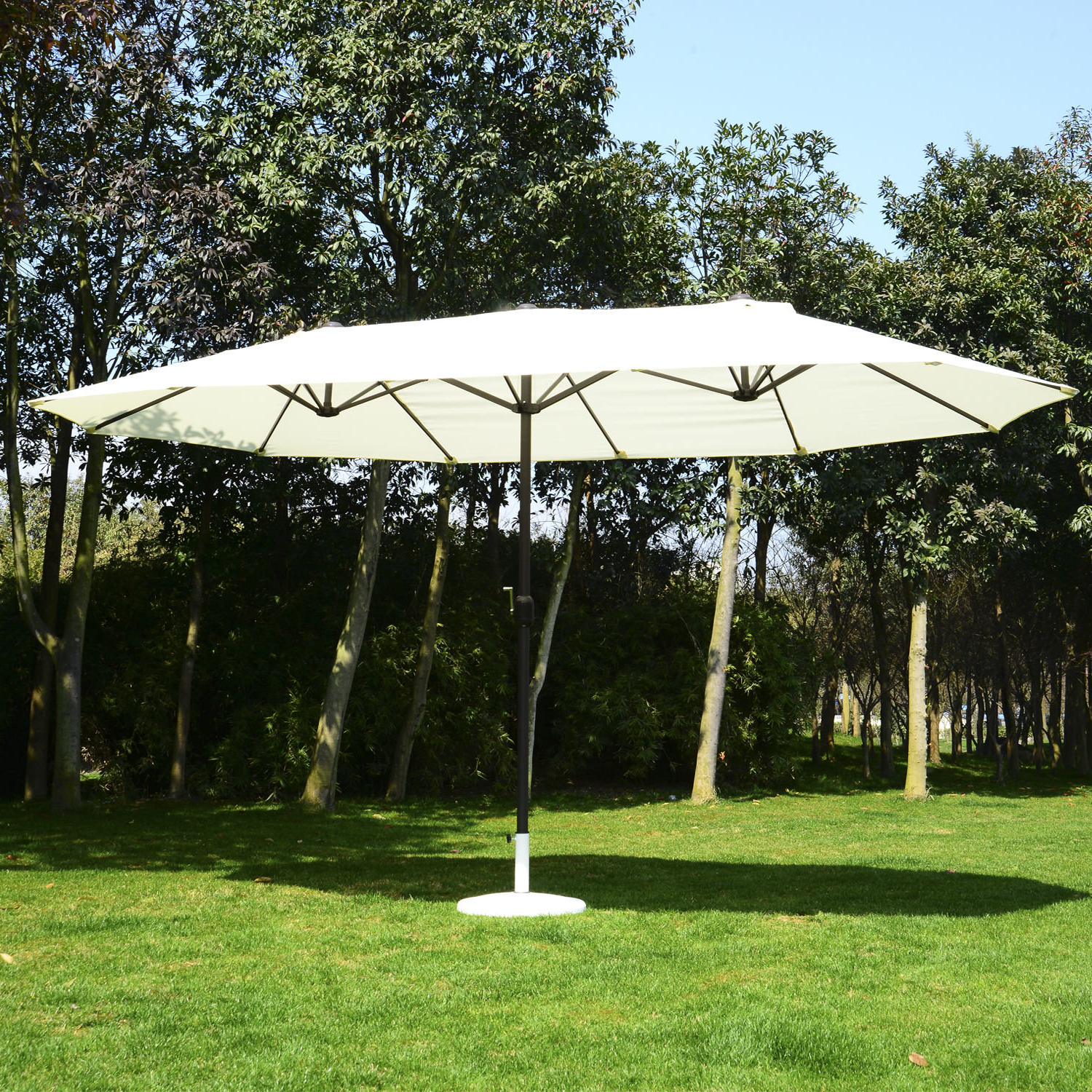 Cambon 15' Market Umbrella With Regard To Popular Lambeth Market Umbrellas (View 17 of 20)