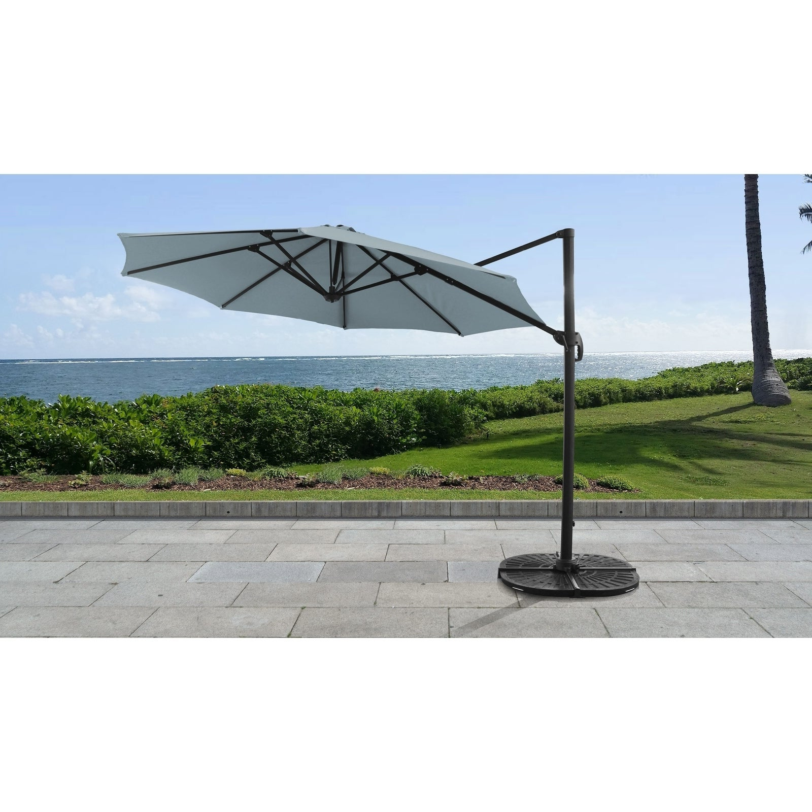 Cantilever Umbrellas In Popular 11' Outdoor Cantilever Umbrella (View 7 of 20)