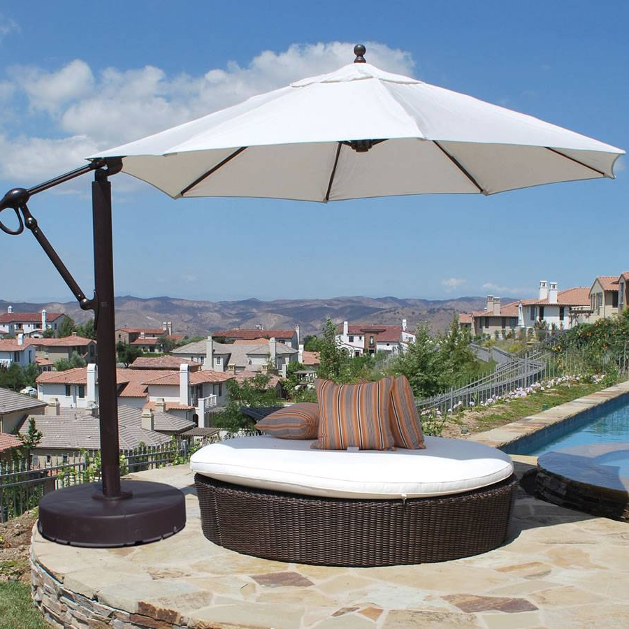 Cantilever Umbrellas Pertaining To Trendy 11 Foot Cantilever Umbrella –  (View 5 of 20)