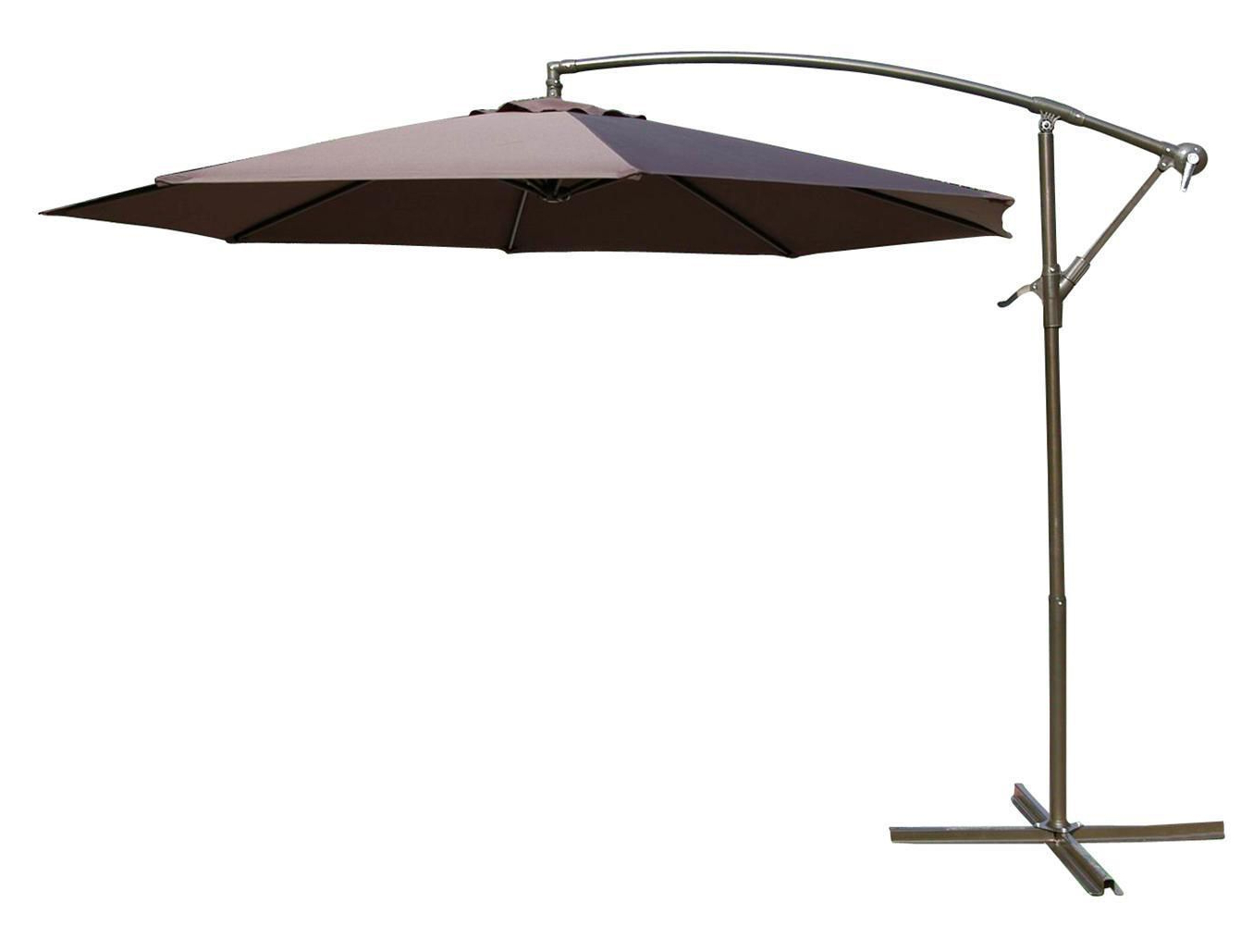 Cantilever Umbrellas Throughout Famous Henryka Ltd Henryka 10' Cantilever Umbrella – Black (View 4 of 20)