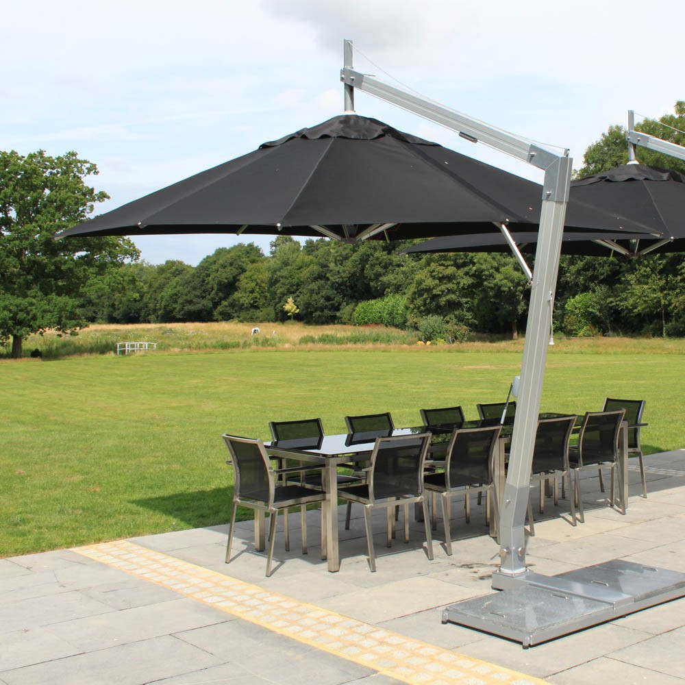 Cantilever Umbrellas With Regard To Most Recently Released Hurricane Aluminum Cantilever Umbrella From Bambrella (View 8 of 20)