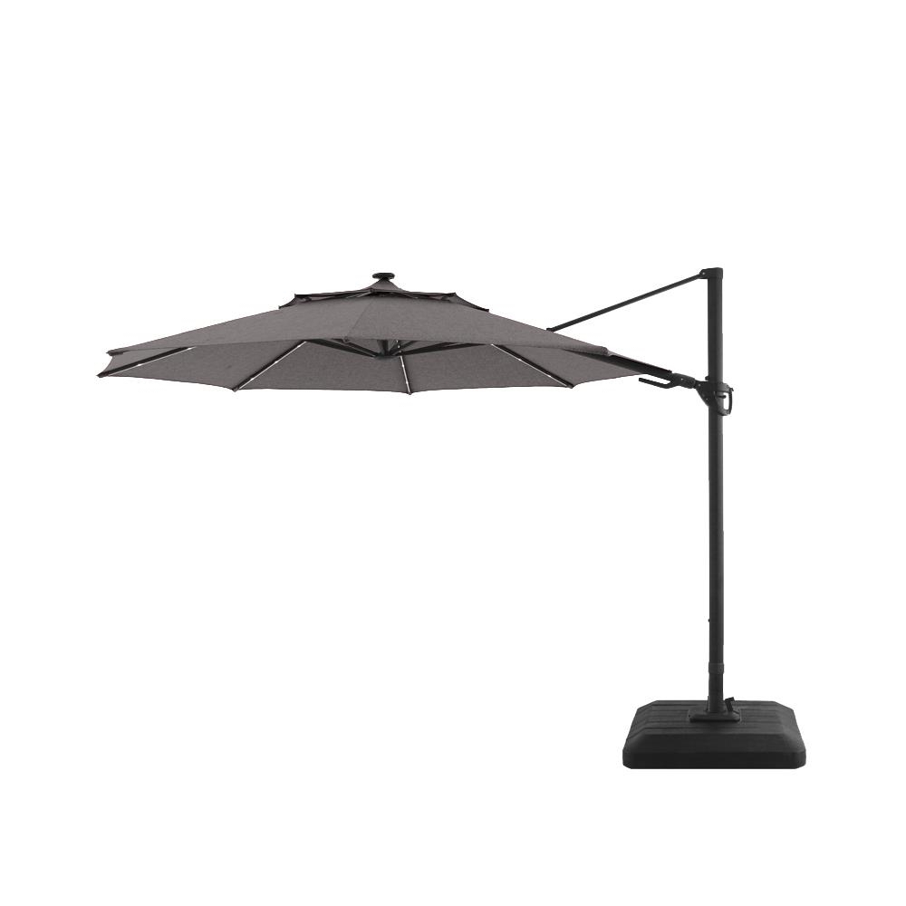 Cantilever Umbrellas Within Recent Style Selections 11 Ft Led Cantilever Umbrella (View 6 of 20)