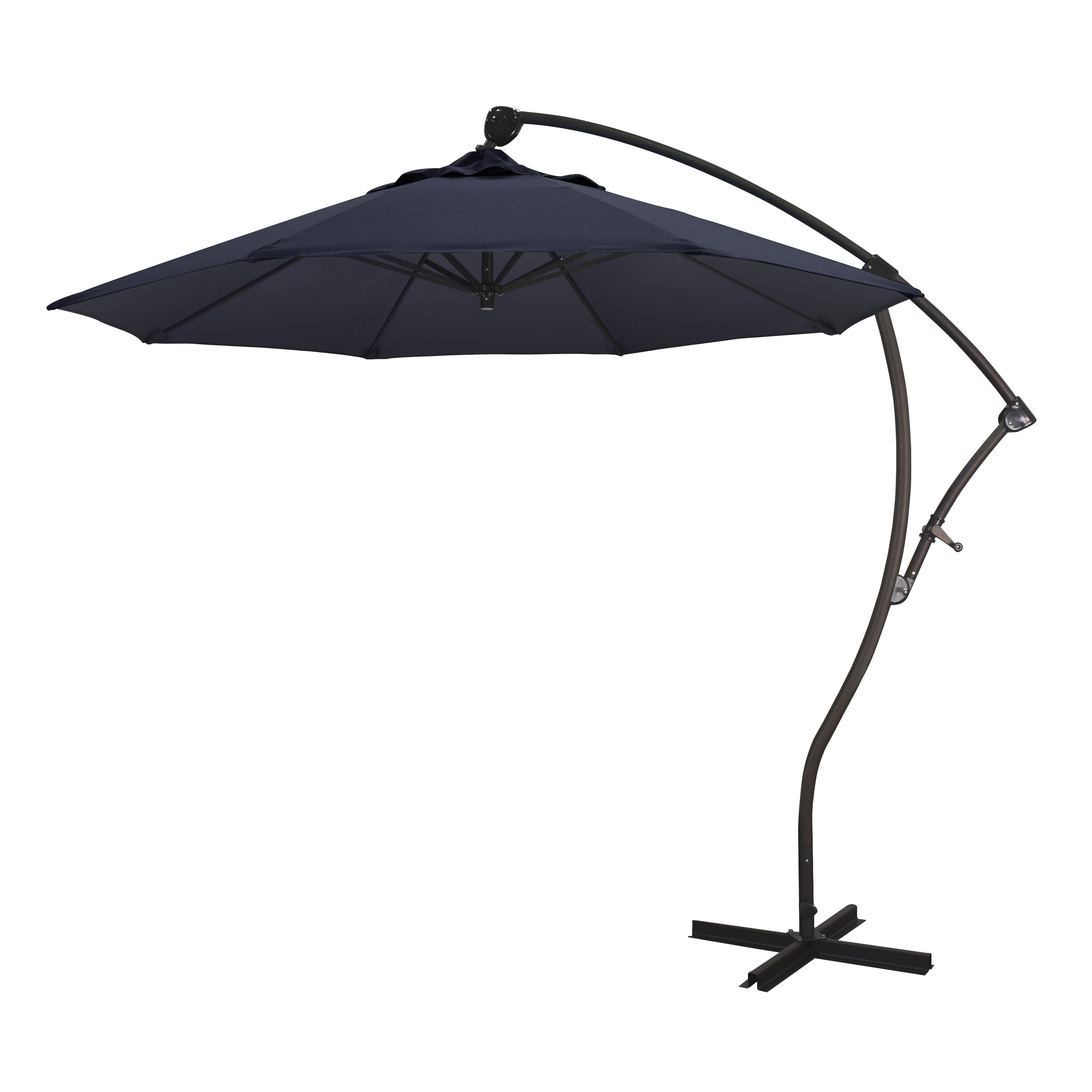 Capri 9' Cantilever Umbrella Pertaining To 2019 Ceylon Cantilever Sunbrella Umbrellas (View 5 of 20)