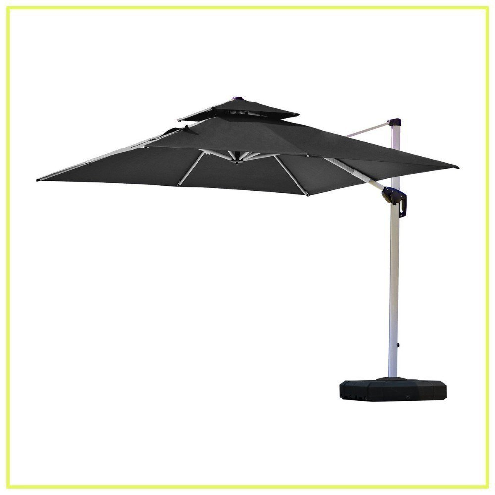 Caravelle Market Sunbrella Umbrellas Regarding Favorite 10 Best Cantilever Umbrellas In 2019: A Complete Guide And Reviews (View 19 of 20)