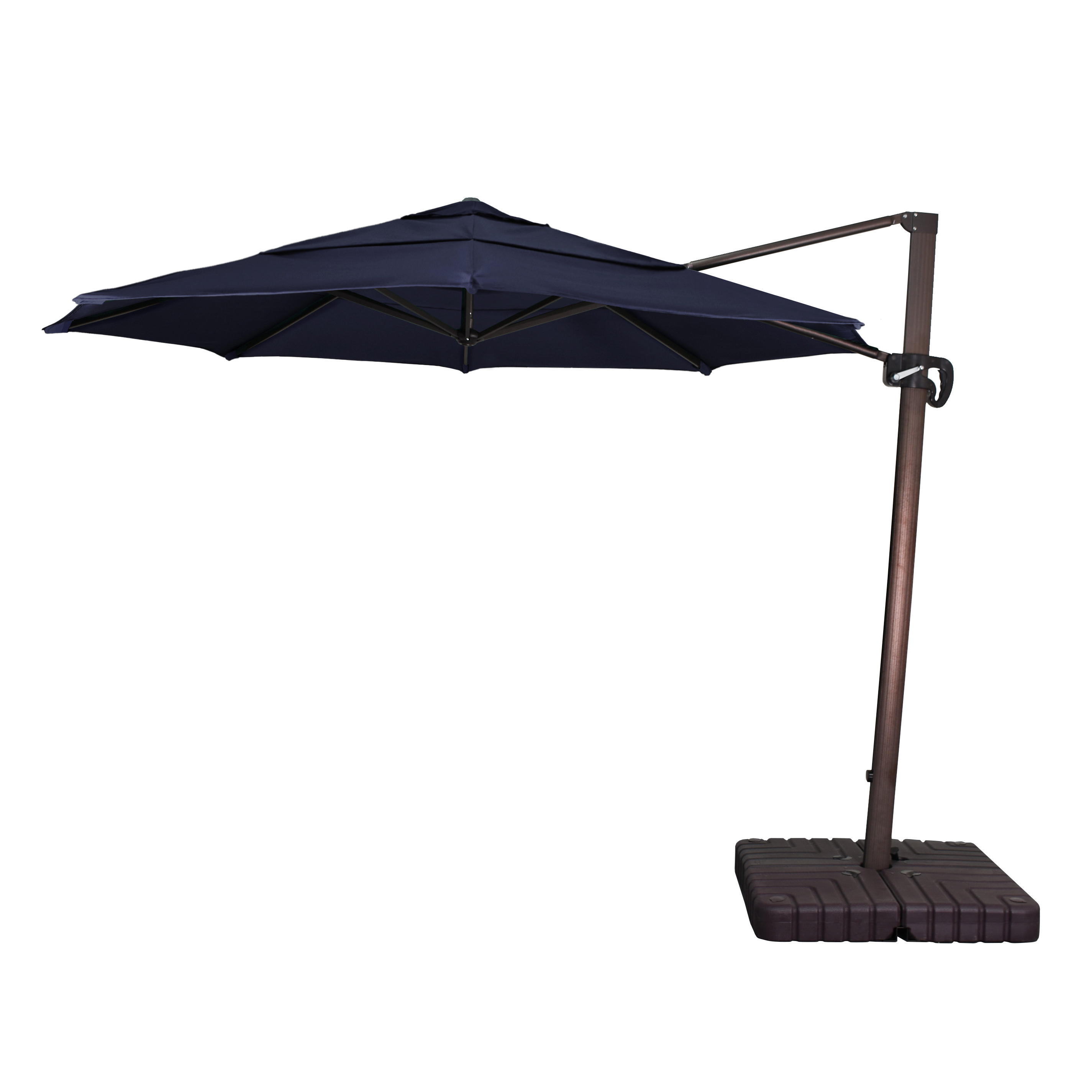 Carlisle 11' Cantilever Sunbrella Umbrella Intended For Well Liked Ceylon Cantilever Sunbrella Umbrellas (View 6 of 20)