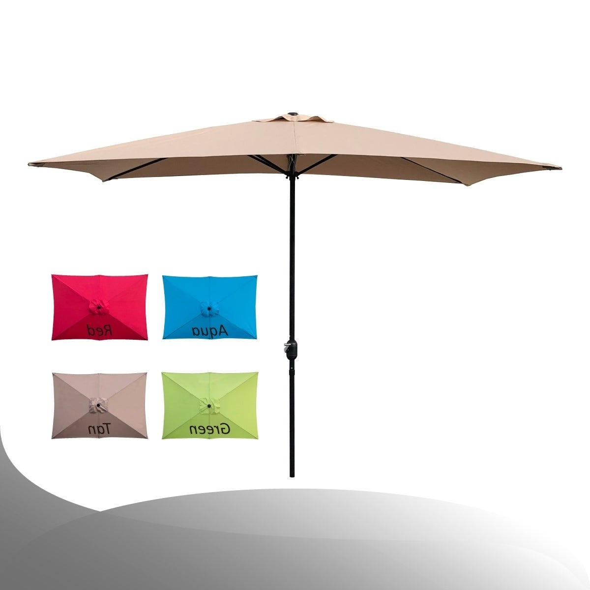 Carlton  Rectangular Market Umbrellas With Regard To Latest Buy Rectangular Patio Umbrellas Online At Overstock (View 10 of 20)