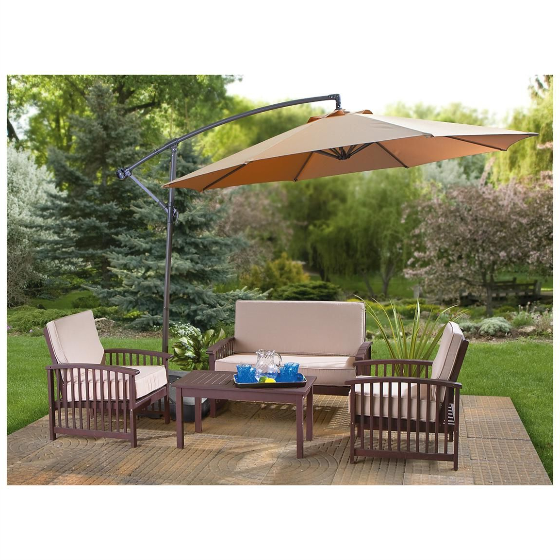 Castlecreek 10 Foot Cantilever Umbrella (View 7 of 20)