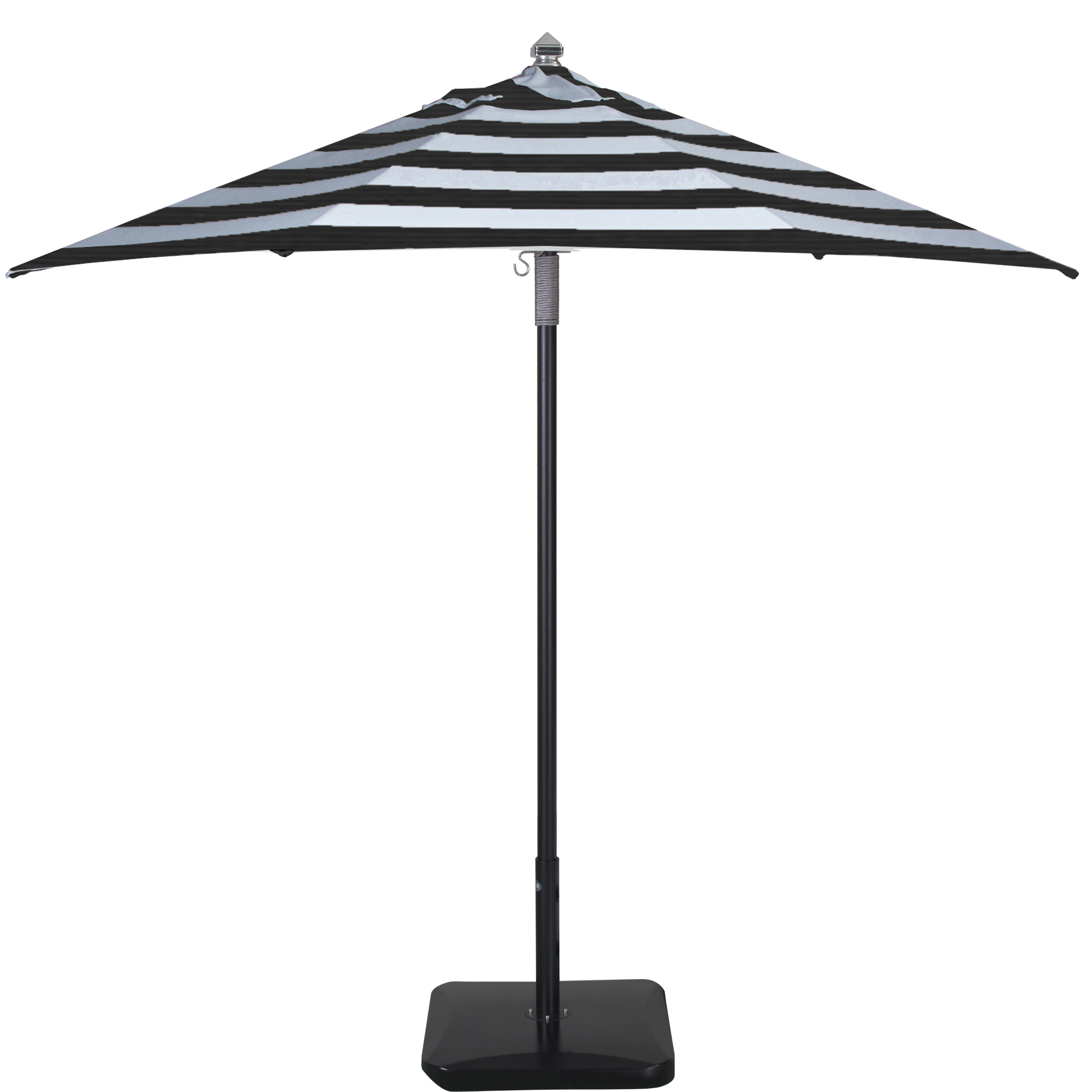 Centeno 9' Market Sunbrella Umbrella Regarding 2019 Wiebe Auto Tilt Square Market Sunbrella Umbrellas (View 5 of 20)