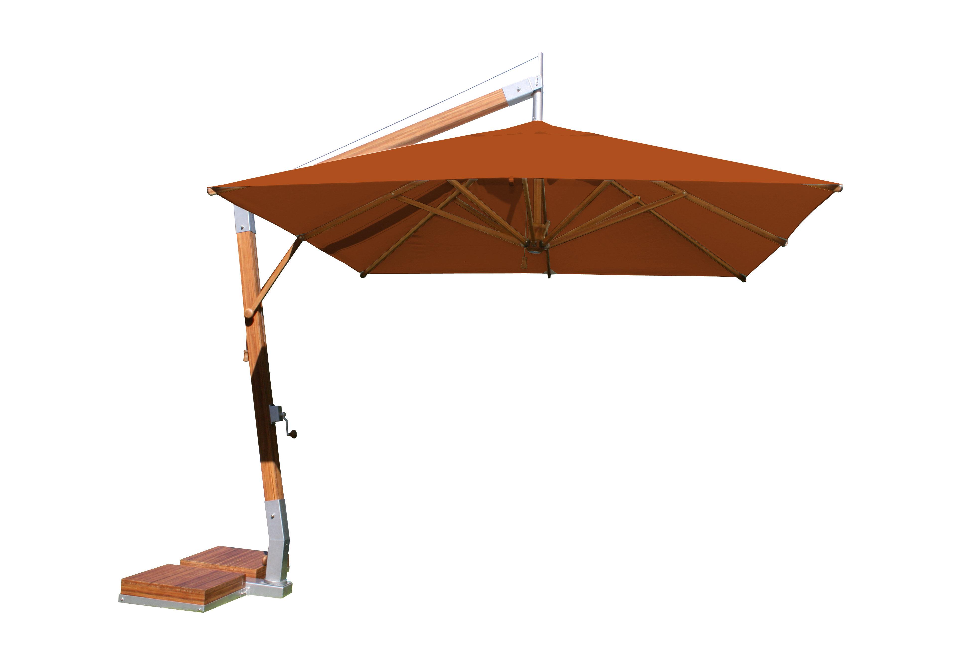 Charlton Home Rikard 10' Square Cantilever Umbrella Regarding Current Nasiba Square Cantilever Sunbrella Umbrellas (View 8 of 20)