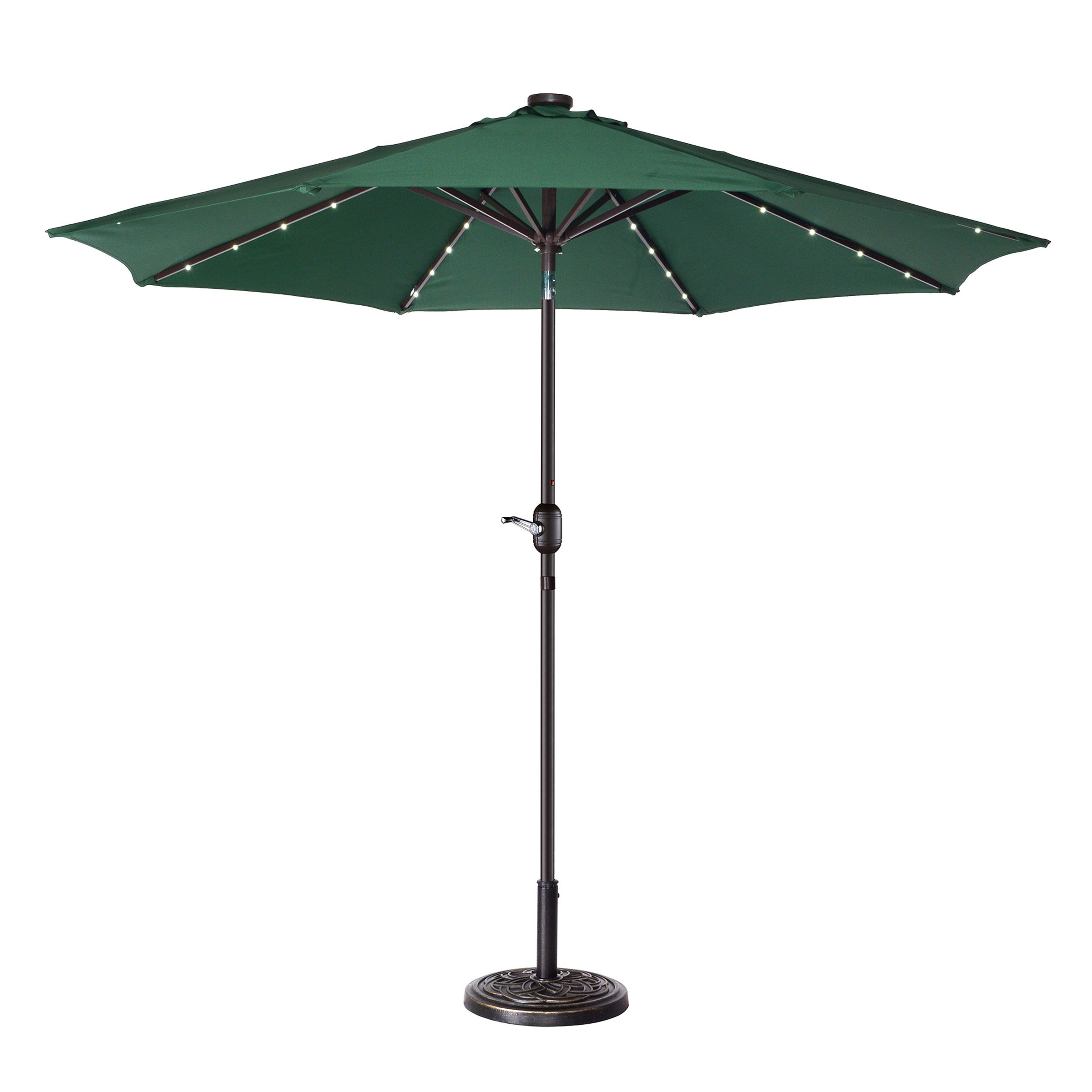 Coggeshall Led Lighted 9' Market Umbrella Regarding Preferred Coggeshall Led Lighted Market Umbrellas (View 6 of 20)