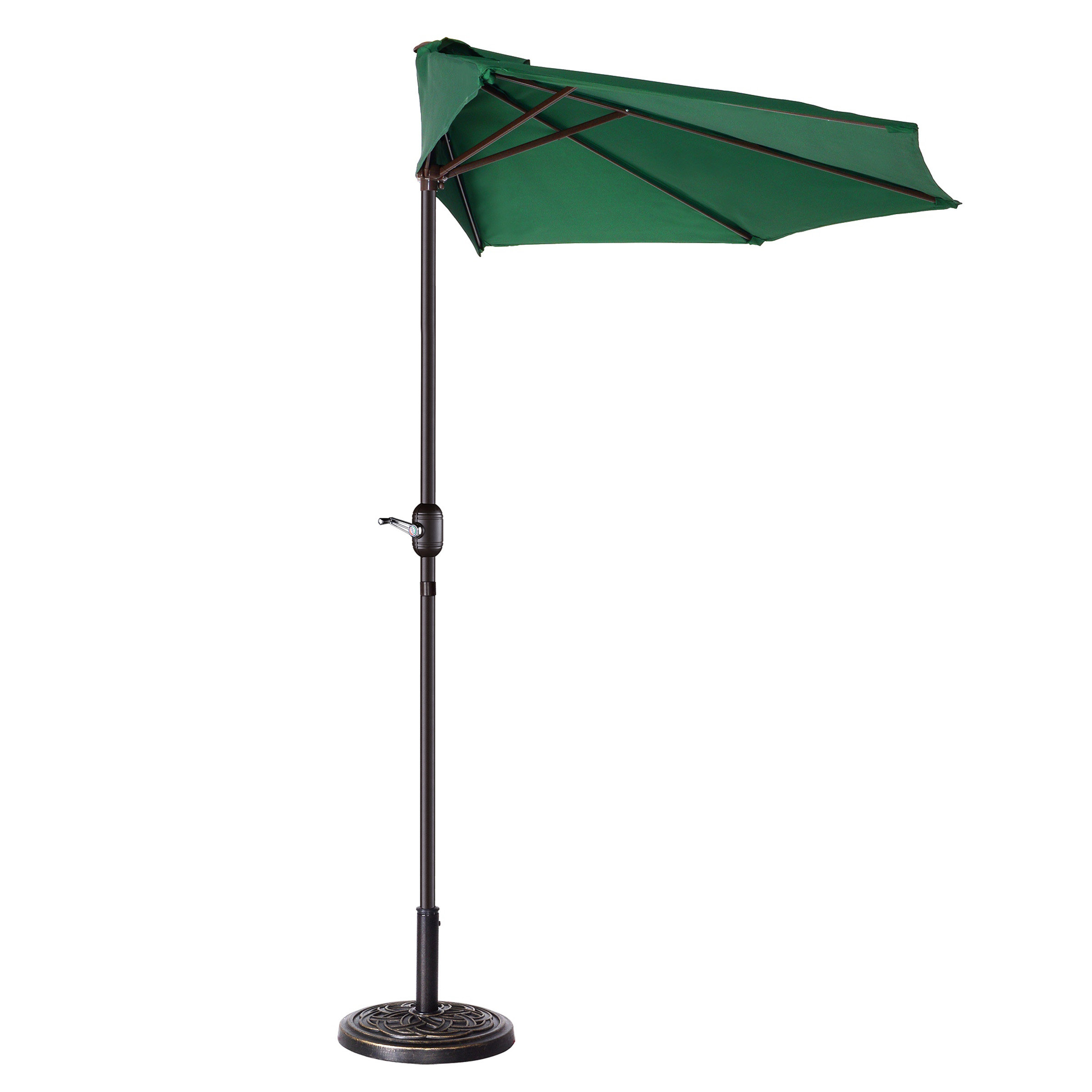 Coggeshall Led Lighted Market Umbrellas With Regard To Widely Used Colburn Half 9' Market Umbrella (View 11 of 20)