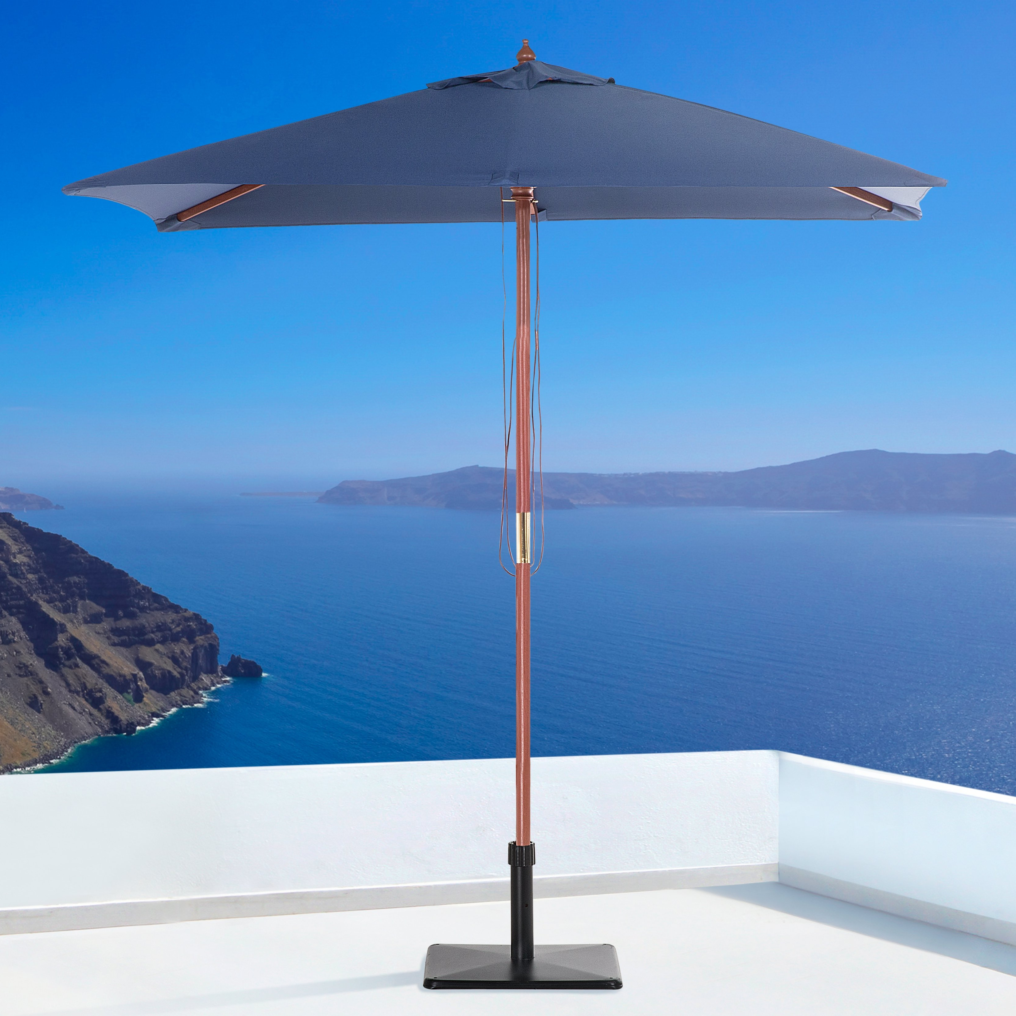Cordelia Rectangular Market Umbrellas With Regard To Most Popular Pau 4.7' X  (View 6 of 20)