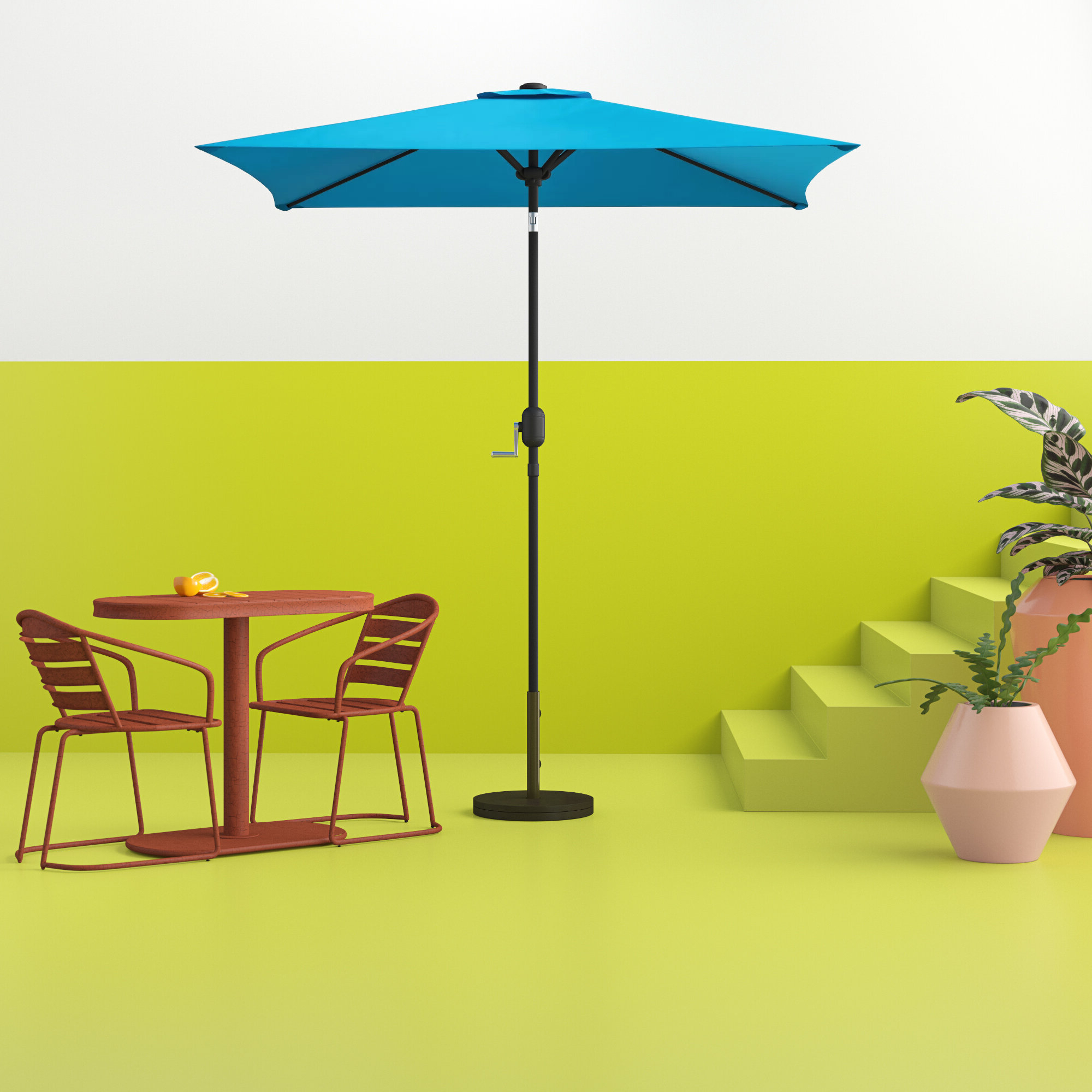 Crowborough Square Market Umbrellas In Well Known Bradford Patio  (View 6 of 20)