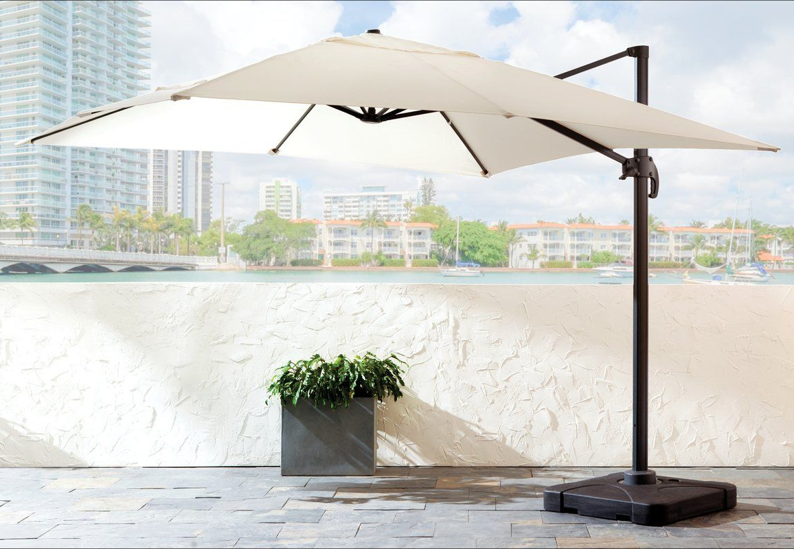Current Boracay 10' Square Cantilever Umbrella (View 7 of 20)