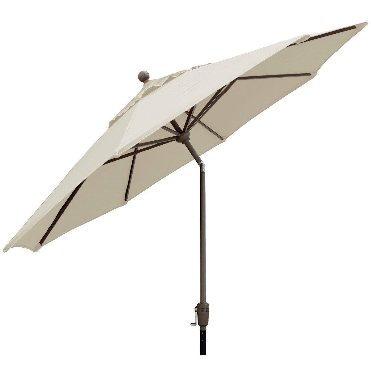 Current Crowland 9' Market Sunbrella Umbrella Regarding Winchester Zipcode Design Market Umbrellas (View 3 of 20)