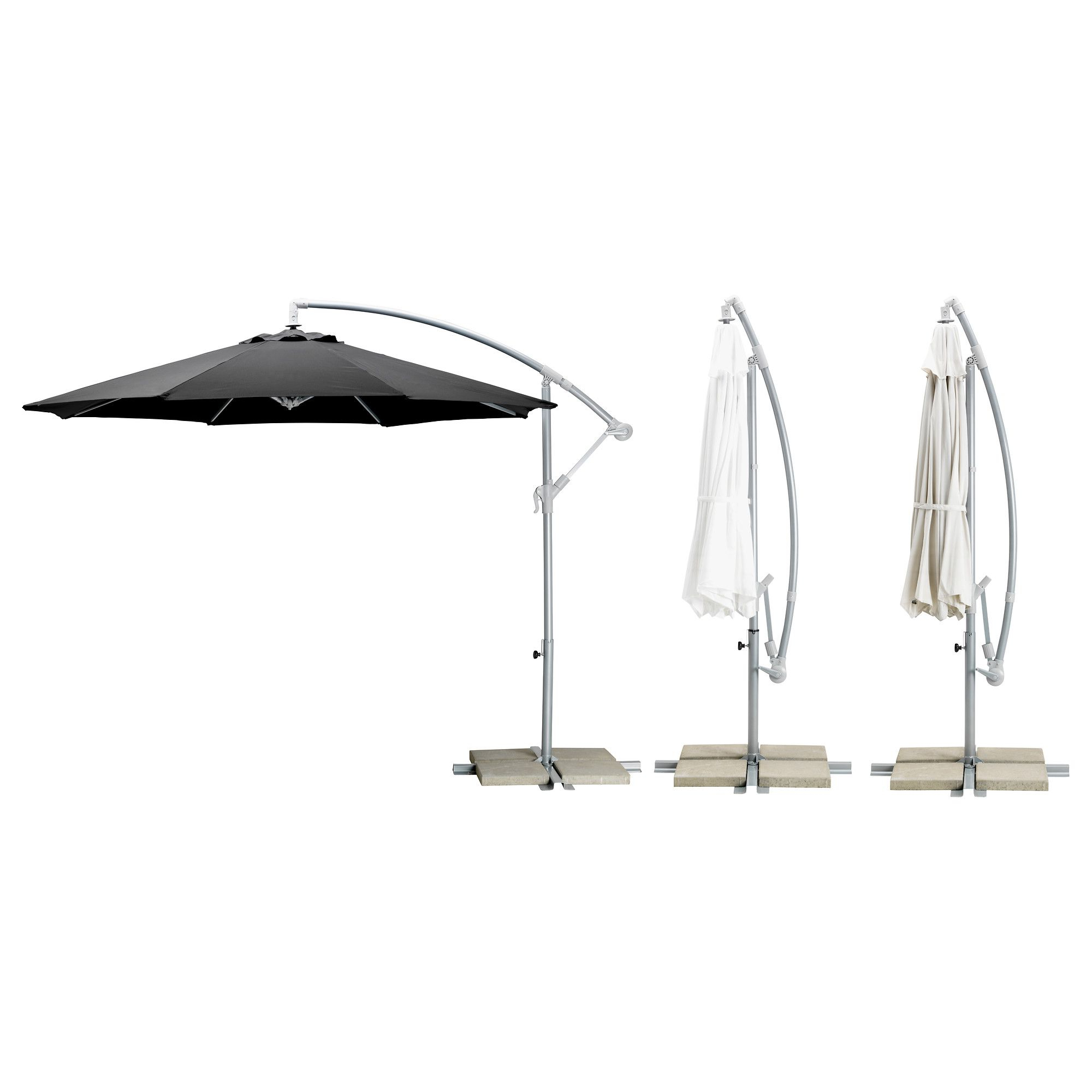 Current Emely Cantilever Umbrellas Regarding Karlsö Umbrella, Hanging – Assorted Colors – Ikea (View 6 of 20)