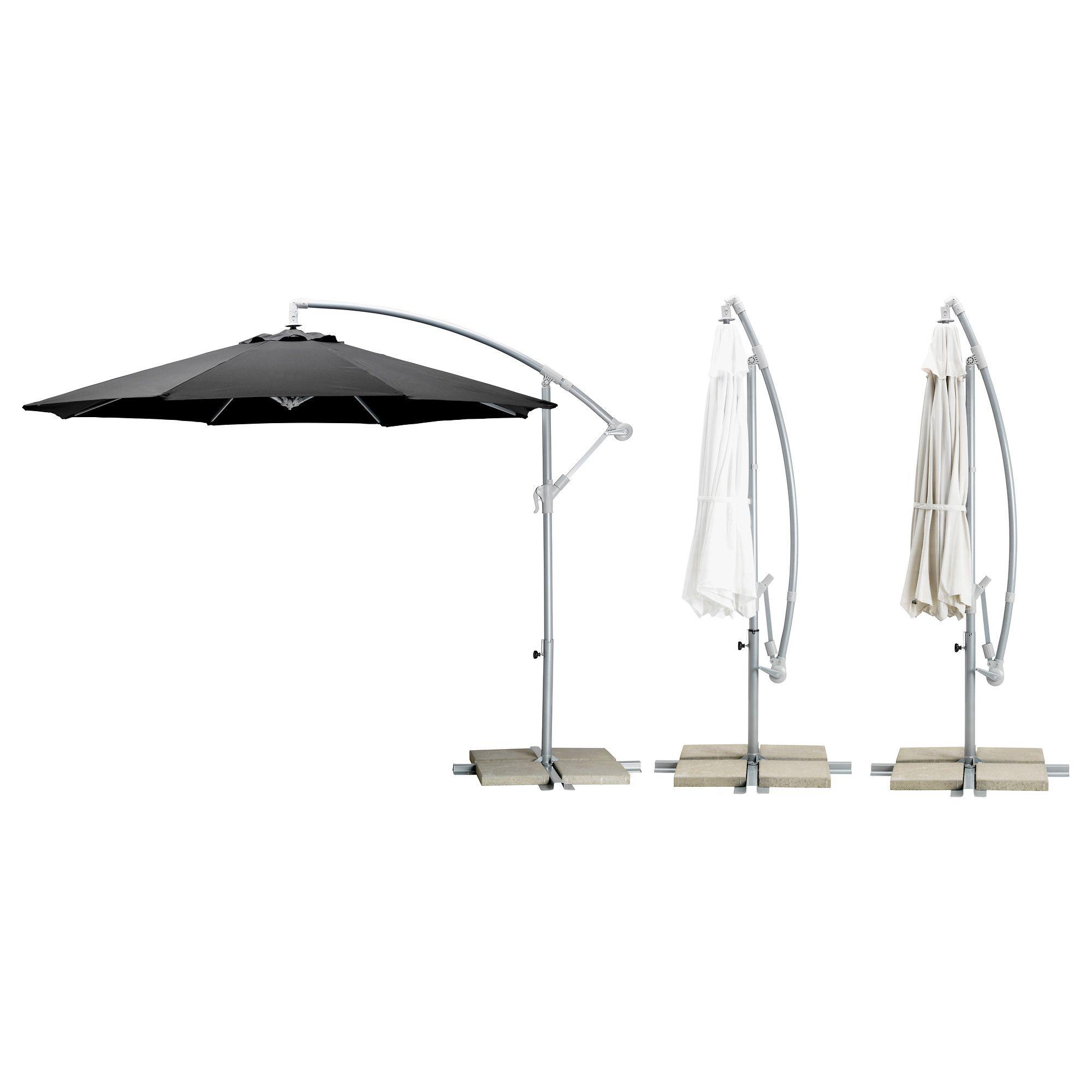 Current Emely Cantilever Umbrellas Regarding Karlsö Umbrella, Hanging – Assorted Colors – Ikea  (View 2 of 20)