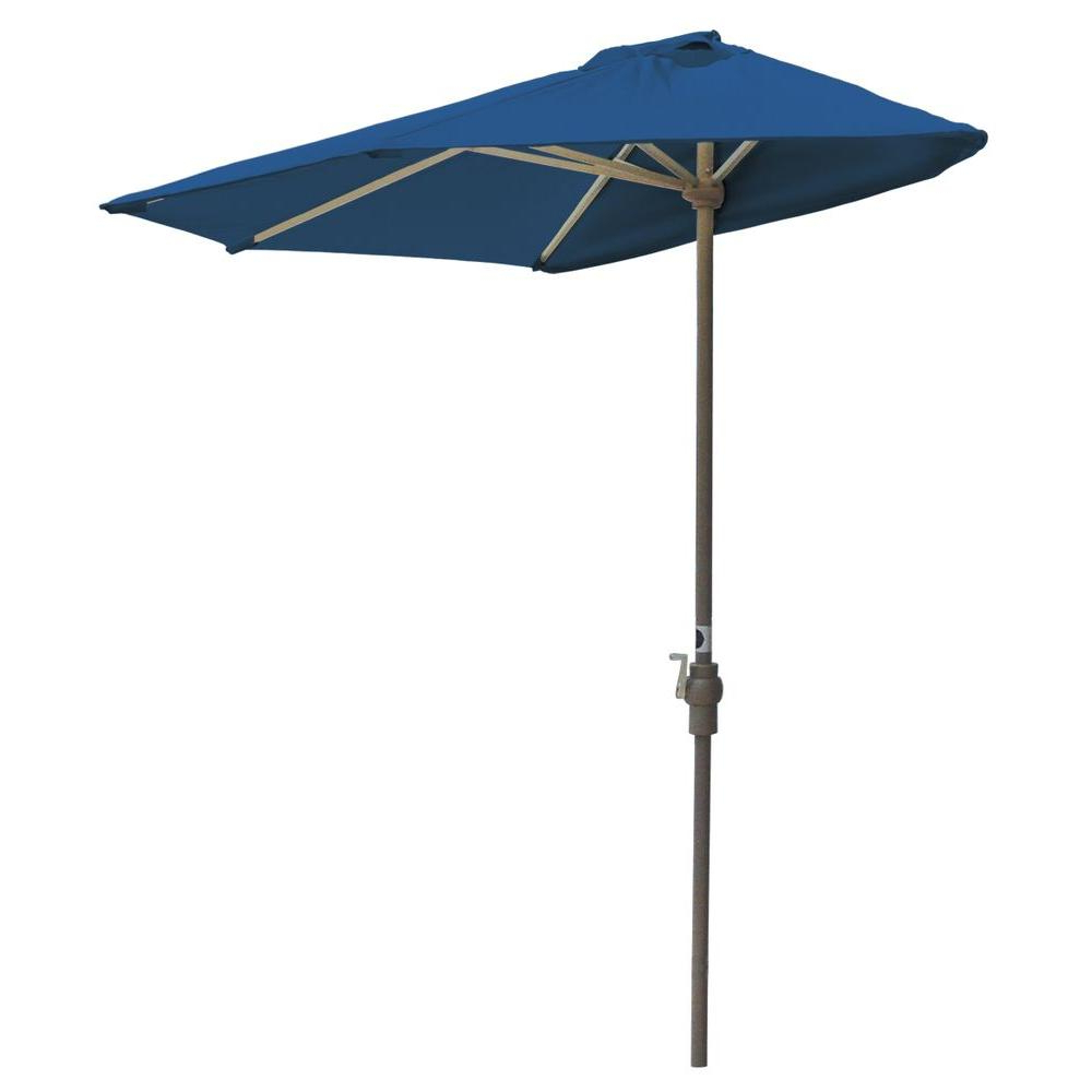 Current Half Round Market Umbrellas With Blue Star Group Off The Wall Brella 7.5 Ft (View 2 of 20)