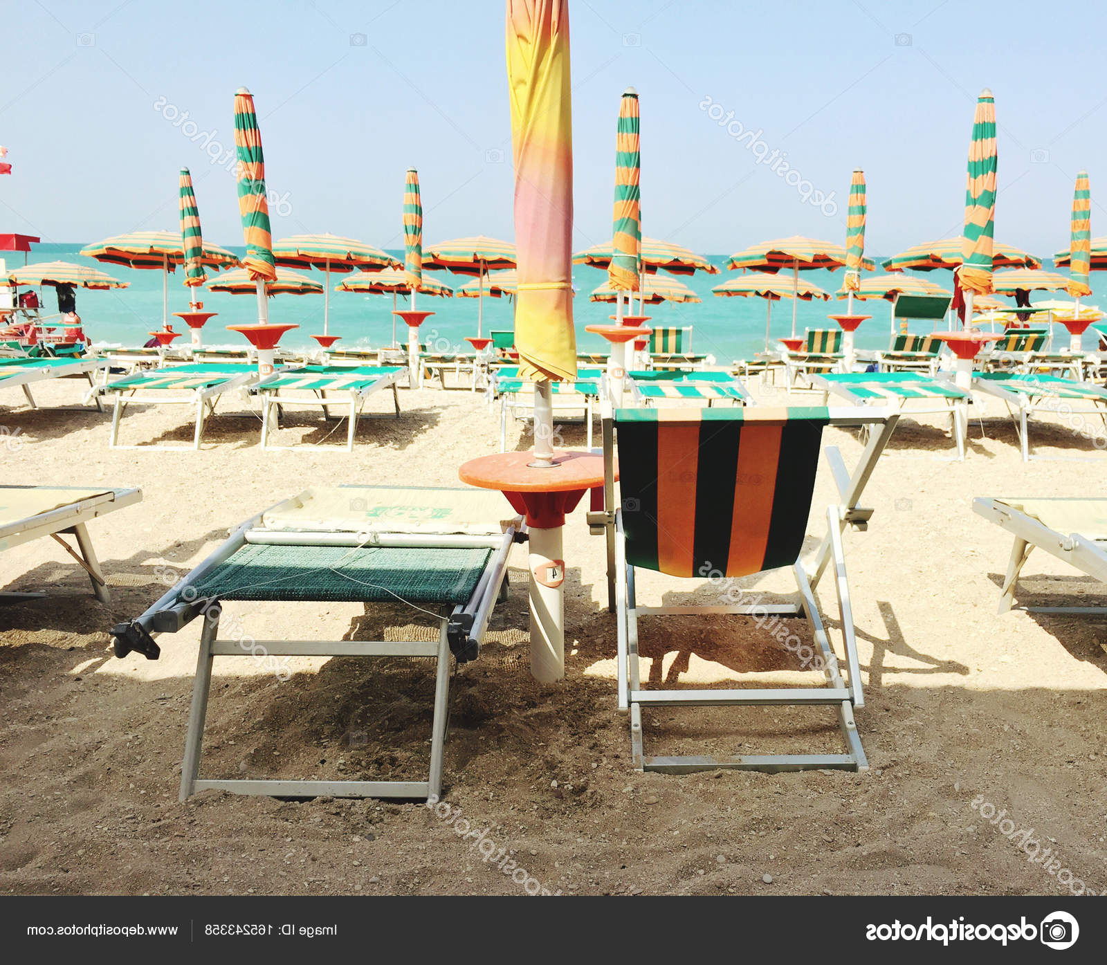 Current Italian Beach Umbrellas Within Italian Beach With Umbrellas — Stock Photo © Rarrarorro # (View 18 of 20)