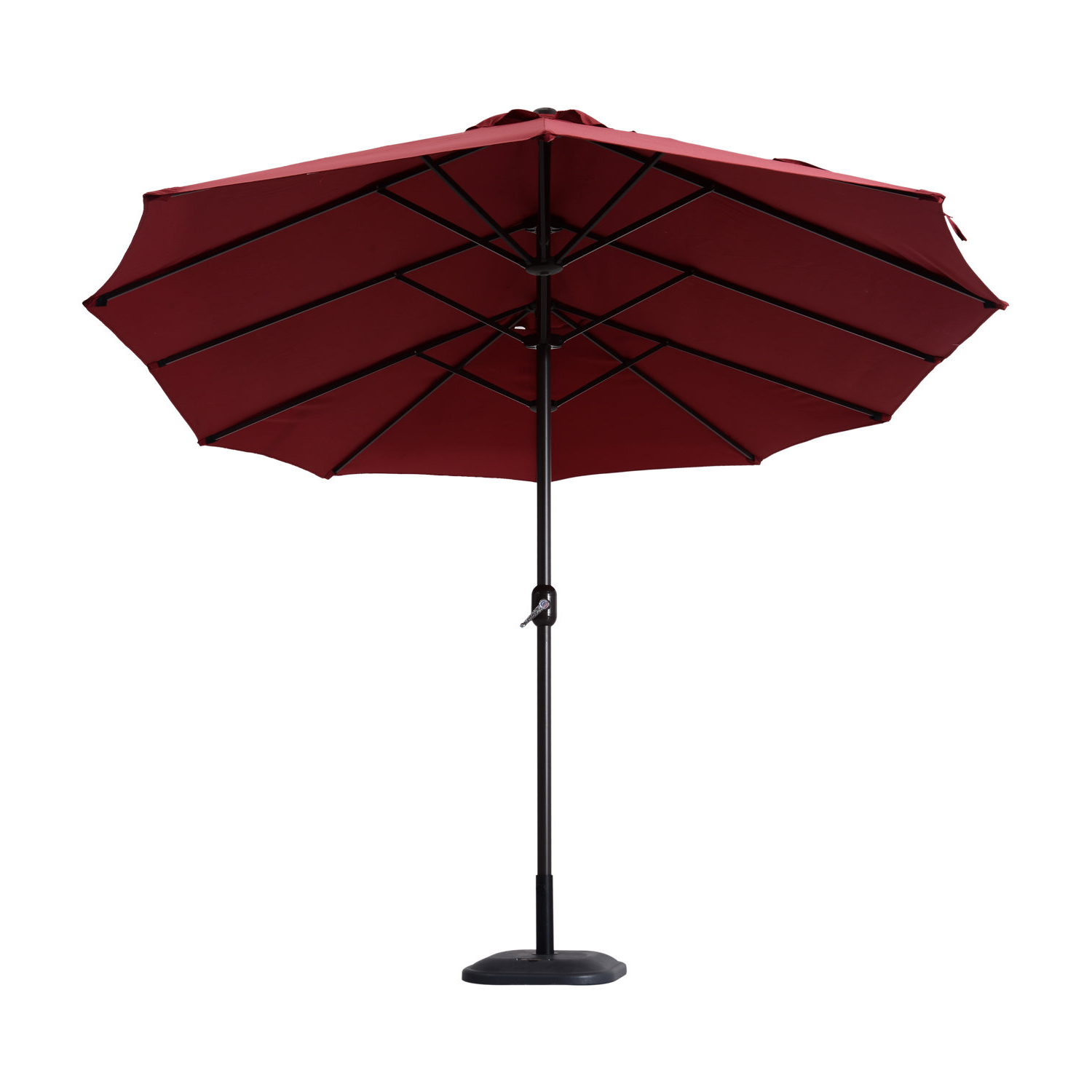 Current Nguyet Outdoor Patio 15' Double Sided Market Umbrella In Stacy Market Umbrellas (View 10 of 20)