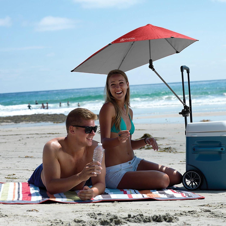 Current Top 10 Best Portable Beach Umbrellas In 2019 – Toptenthebest Throughout Leasure Fiberglass Portable Beach Umbrellas (View 18 of 20)