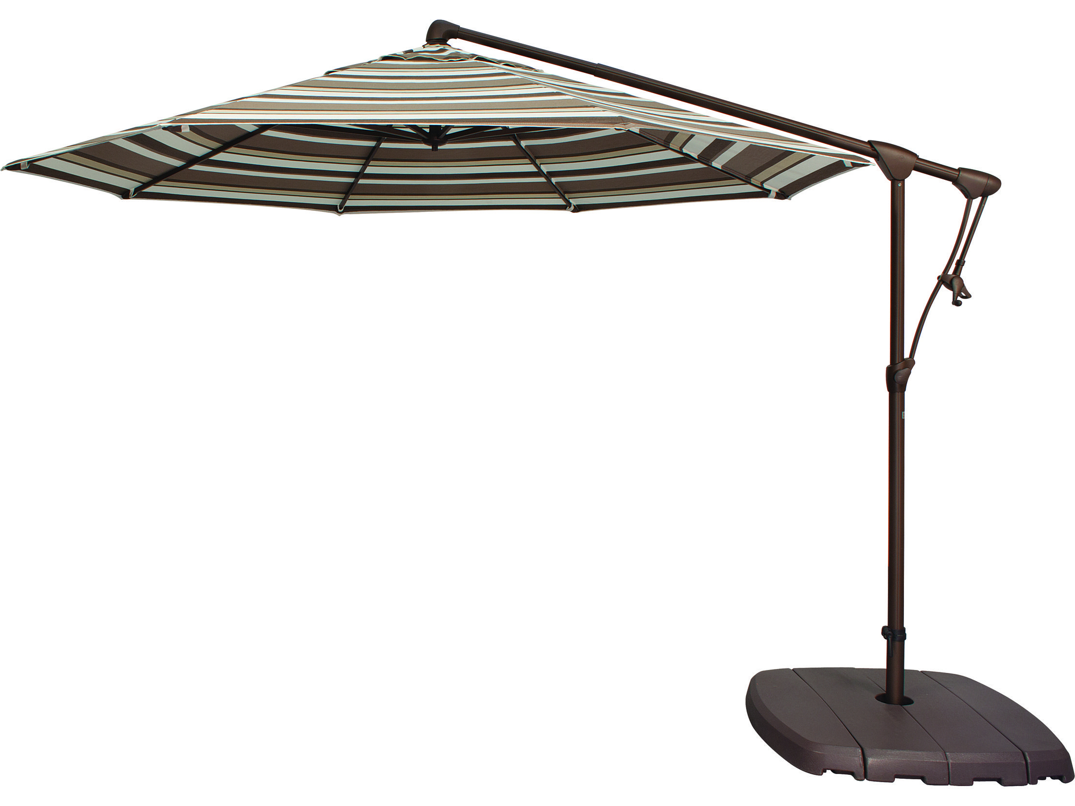 Current Treasure Garden Cantilever Ag19 Aluminum 10' Octagon Tilt & Lock Intended For Voss Cantilever Sunbrella Umbrellas (View 3 of 20)
