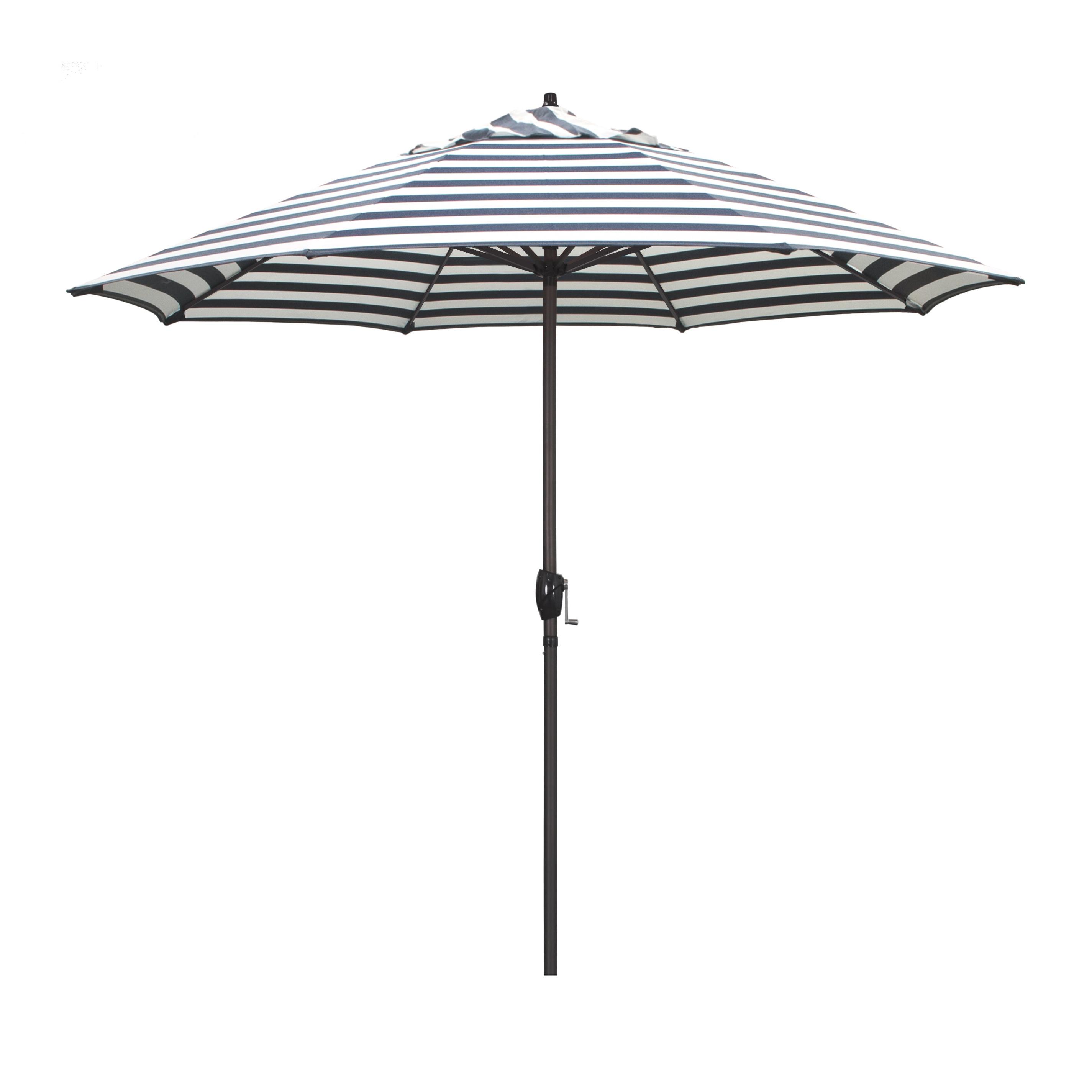 Featured Photo of Darwen Tiltable Patio Stripe Market Umbrellas