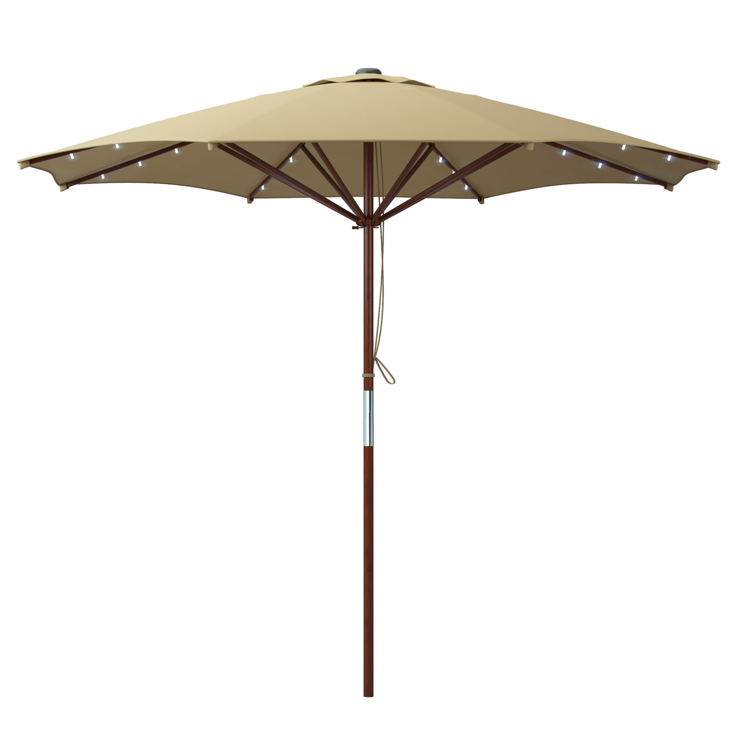 Deforge 9' Illuminated Umbrella Within Best And Newest Brecht Lighted Umbrellas (View 9 of 20)