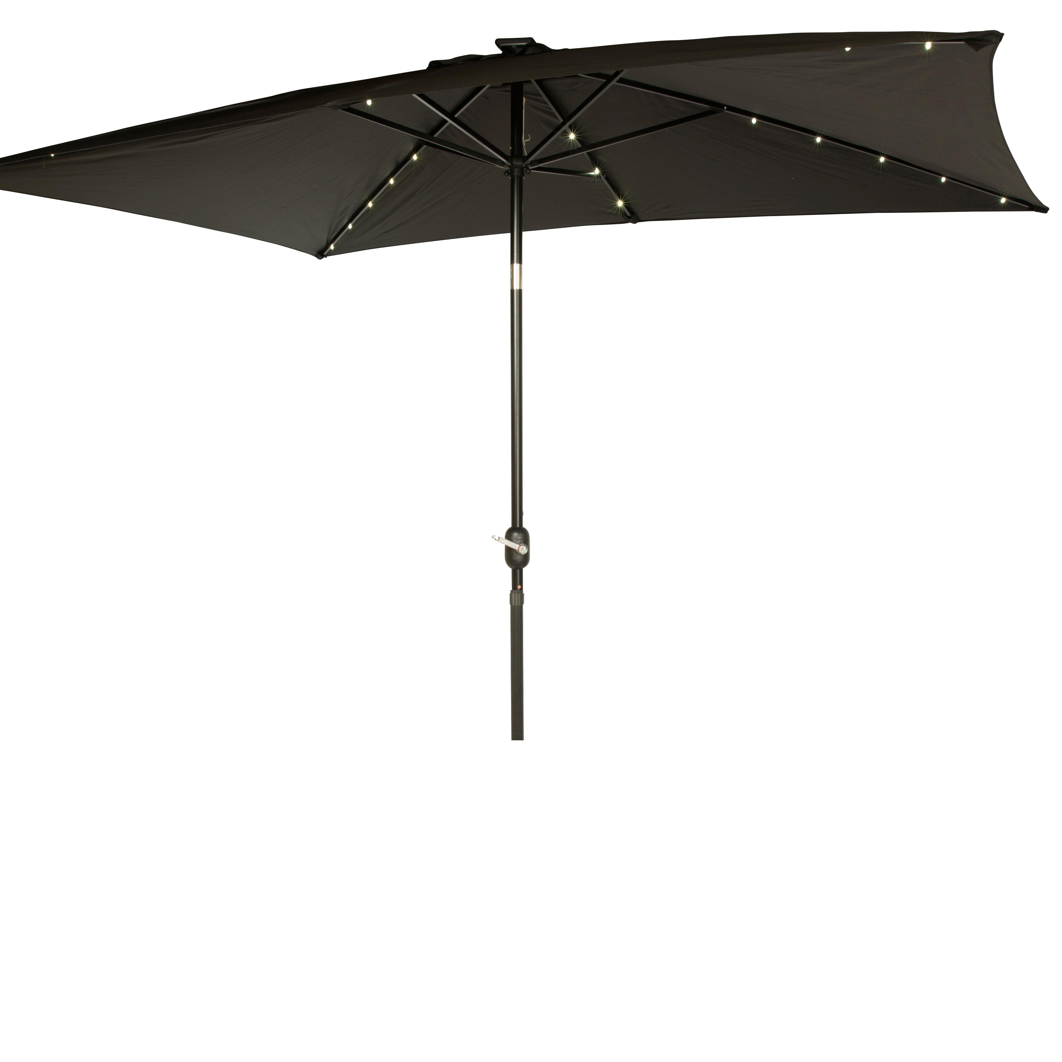Dena Rectangular Market Umbrellas Pertaining To Widely Used Mertie 10' X  (View 11 of 20)