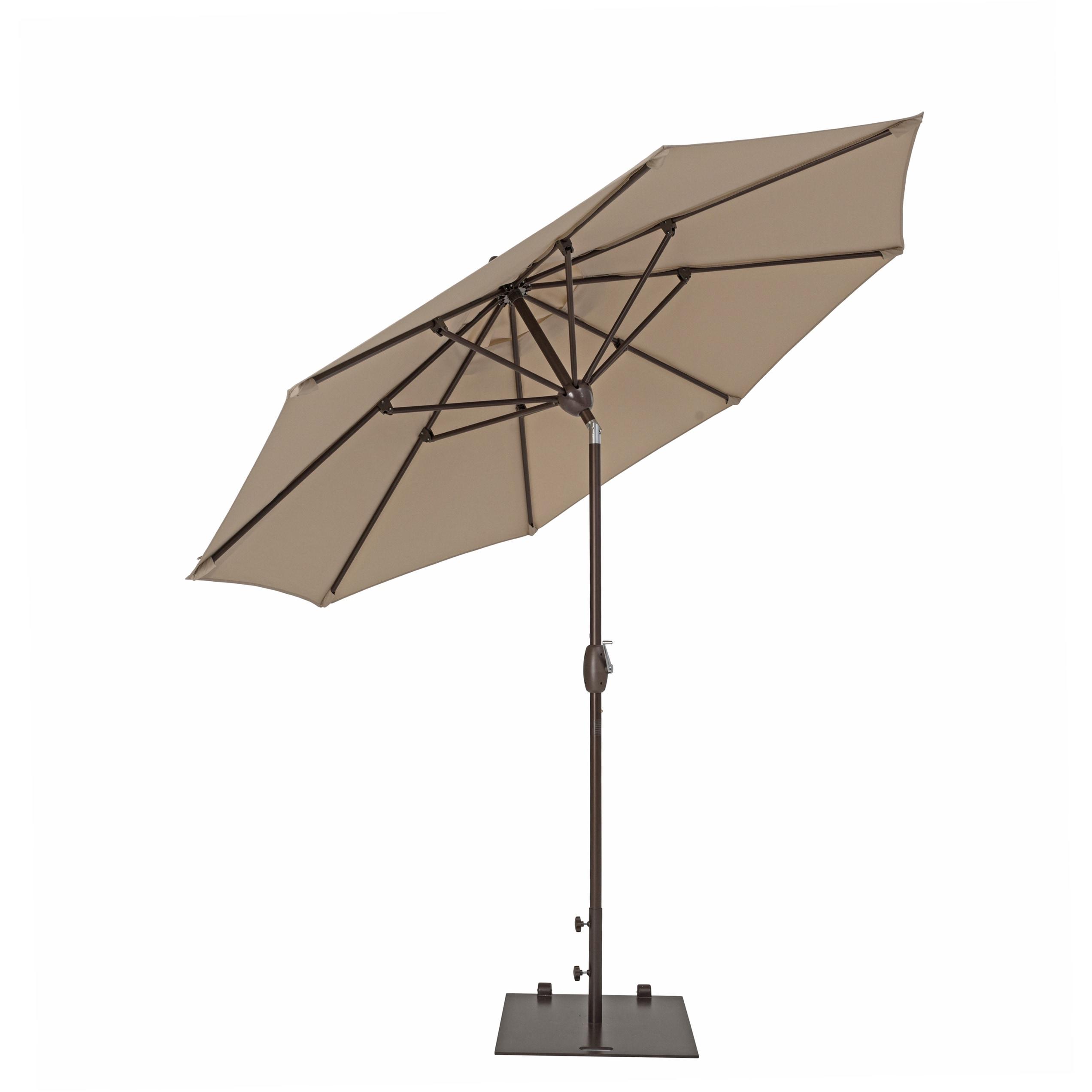Dena Rectangular Market Umbrellas With Regard To 2020 Trueshade Plus 9 Foot Market Umbrella With Push Button Tilt (Jockey (View 7 of 20)