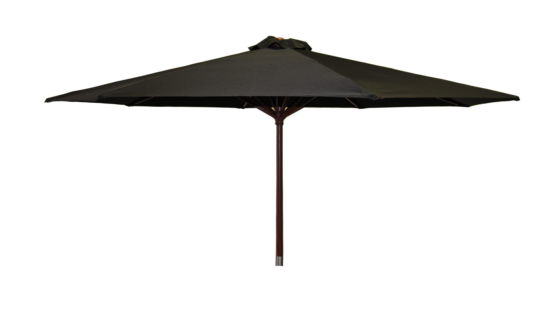 Destination Gear Square Market Umbrellas For Recent Destinationgear Classic Wood 9' Market Umbrella, Black (View 4 of 20)