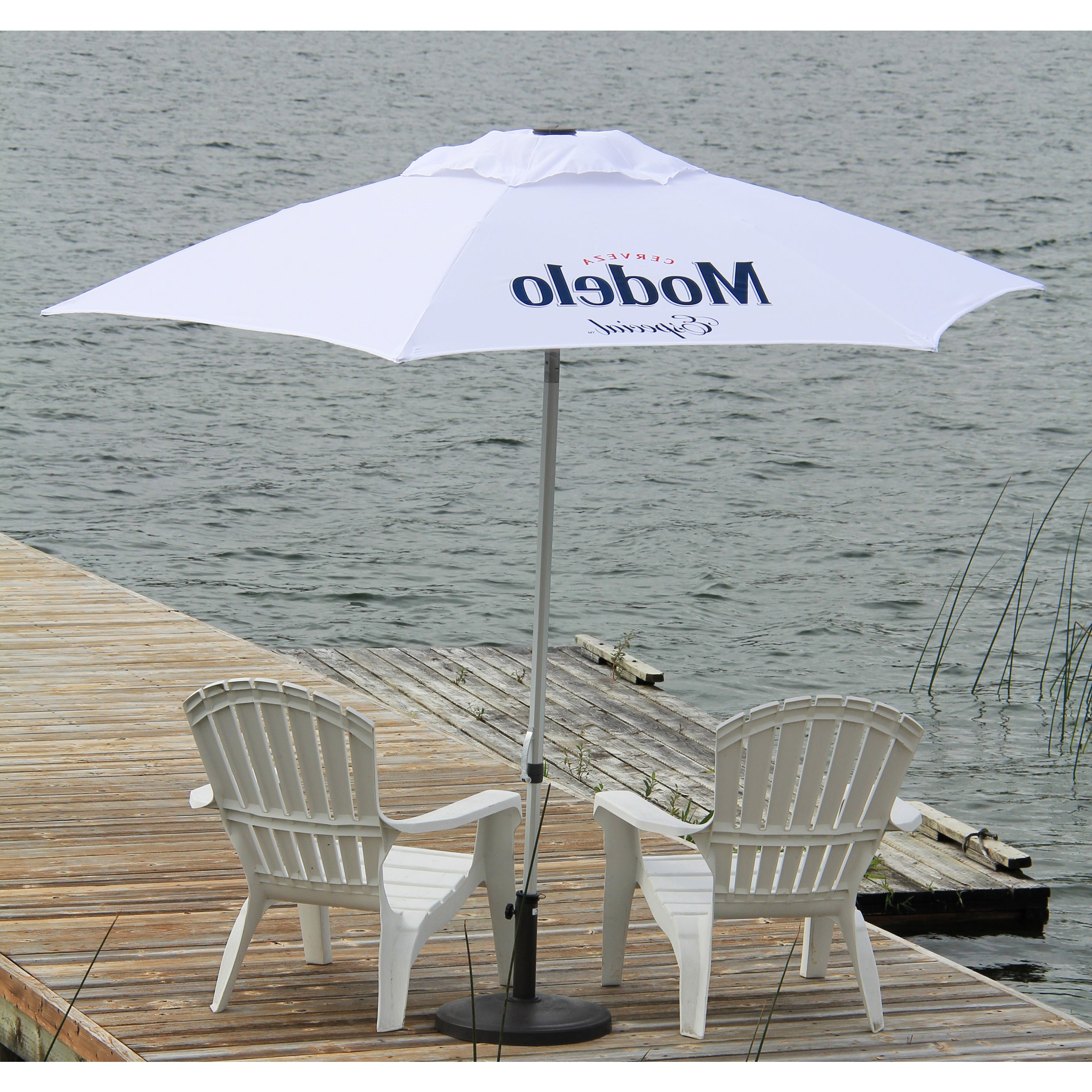 Destination Gear Square Market Umbrellas Regarding Well Known Modelo Especial White Polyester  (View 7 of 20)