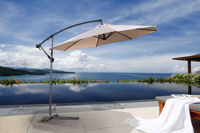 Dore Patio Cantilever Umbrellas Pertaining To Preferred Dore Patio 10' Cantilever Umbrella (View 7 of 20)