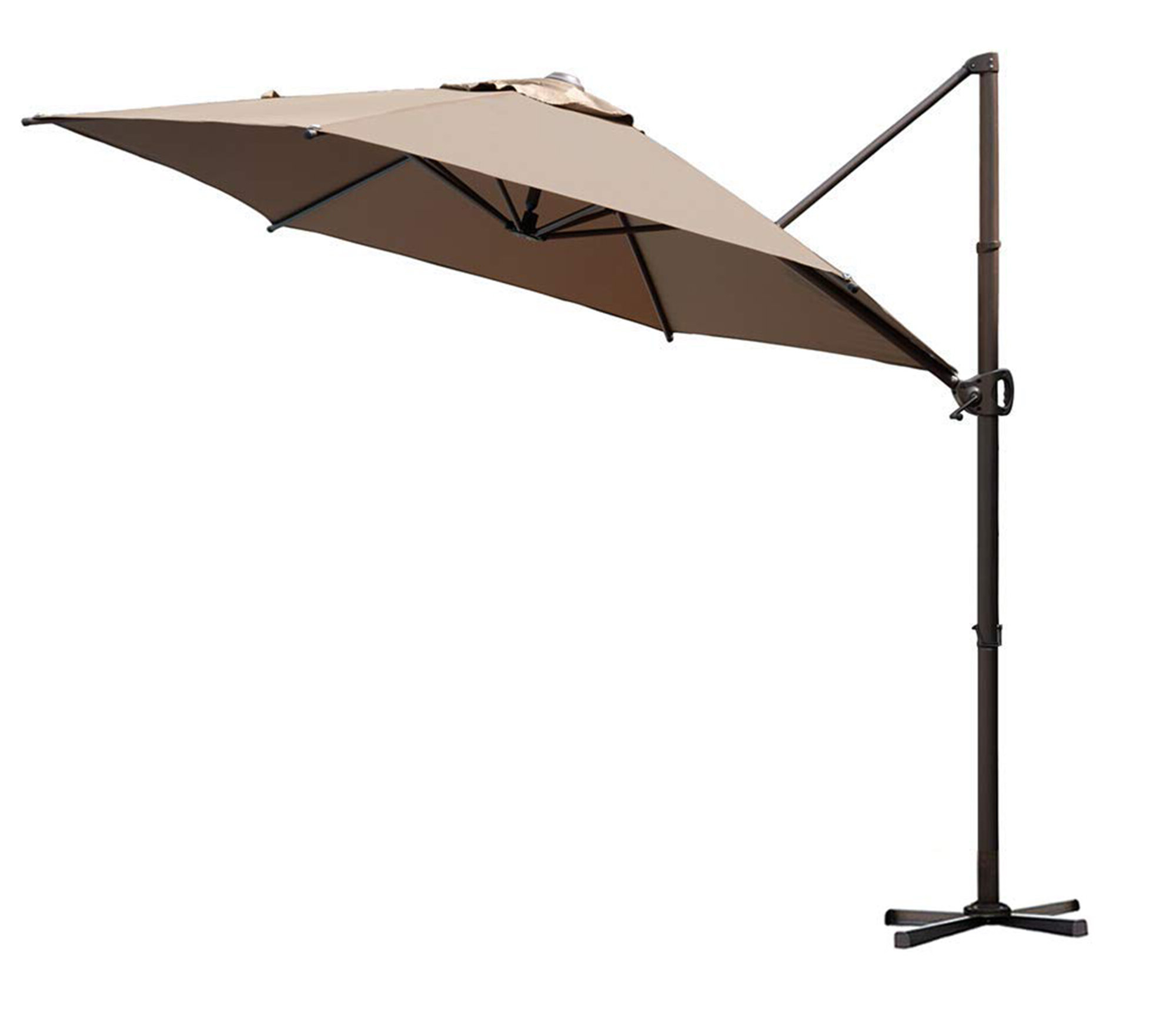 Elaina Cantilever Umbrellas Intended For Widely Used Christopher 9' Cantilever Umbrella (View 5 of 20)