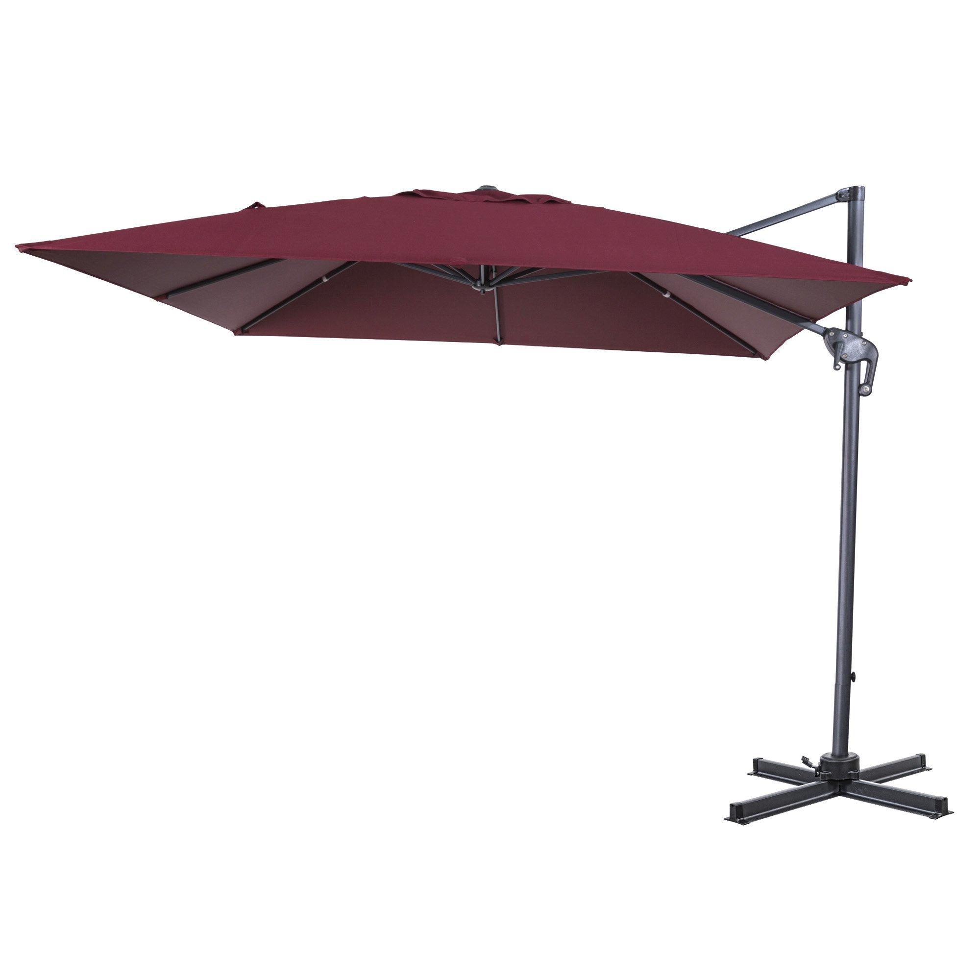 Elmhur Patio Offset 10' Cantilever Umbrella With 2019 Cockermouth Rotating Cantilever Umbrellas (Gallery 13 of 20)