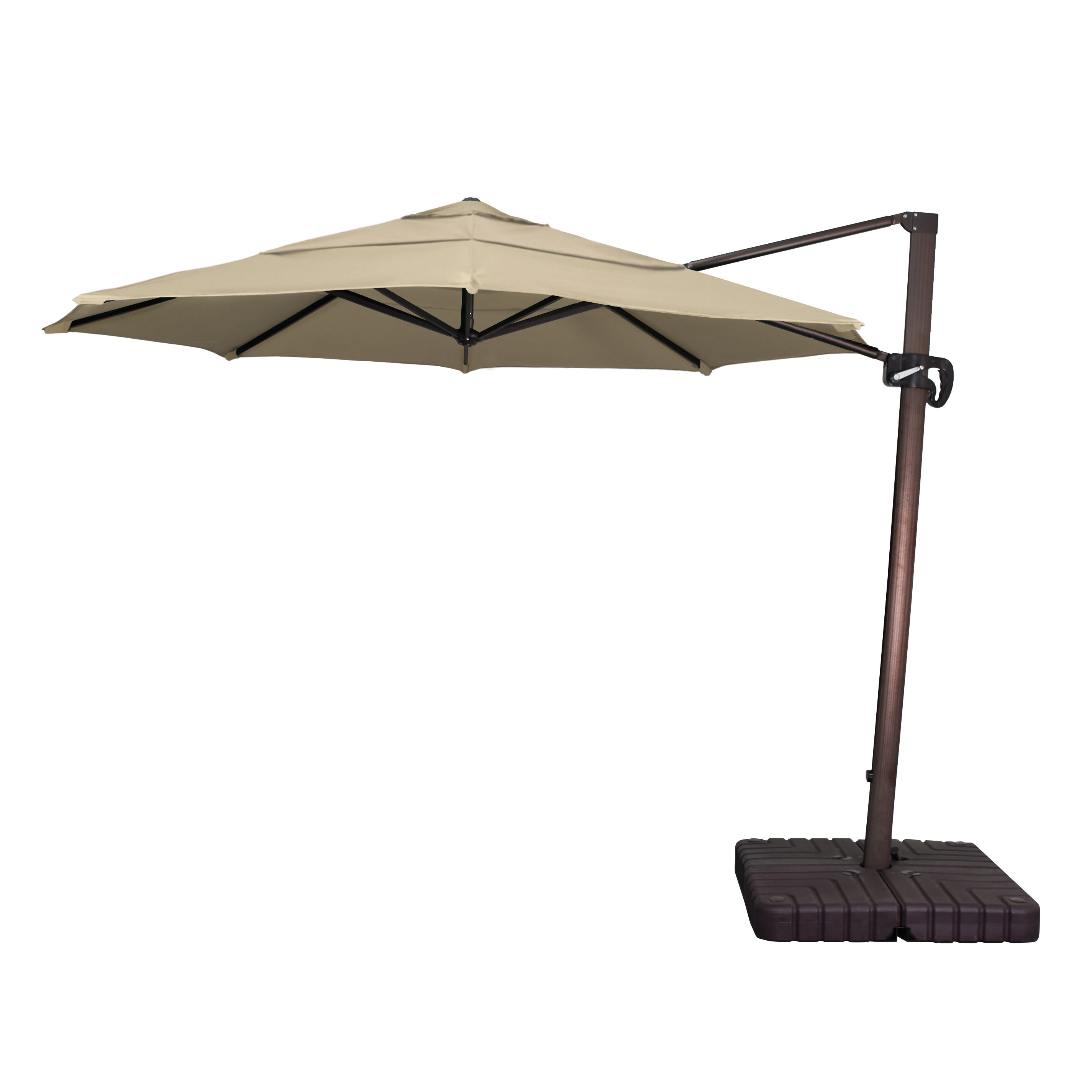 Emely Cantilever Sunbrella Umbrellas In Most Current Phat Tommy 9' Cantilever Umbrella (View 7 of 20)