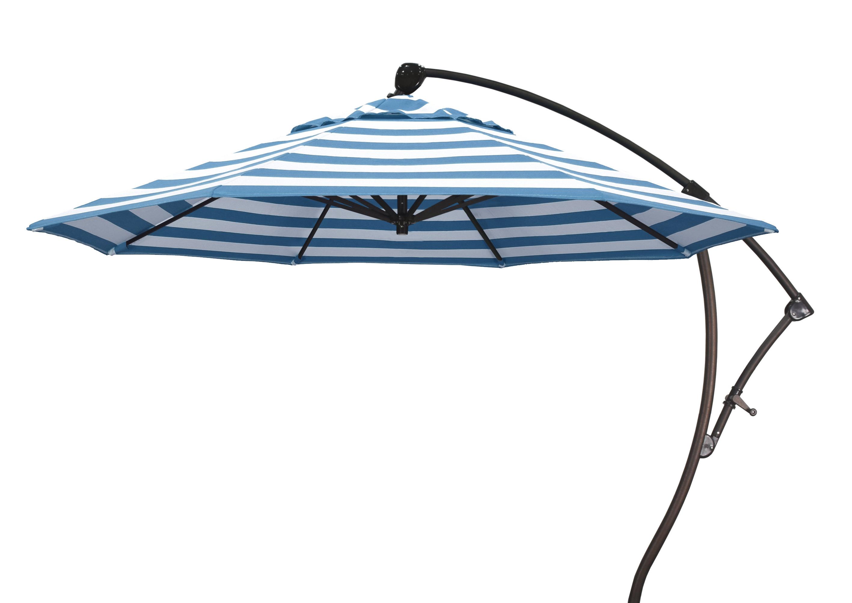 Emely Cantilever Sunbrella Umbrellas Pertaining To Newest 9' Cantilever Sunbrella Umbrella (View 9 of 20)