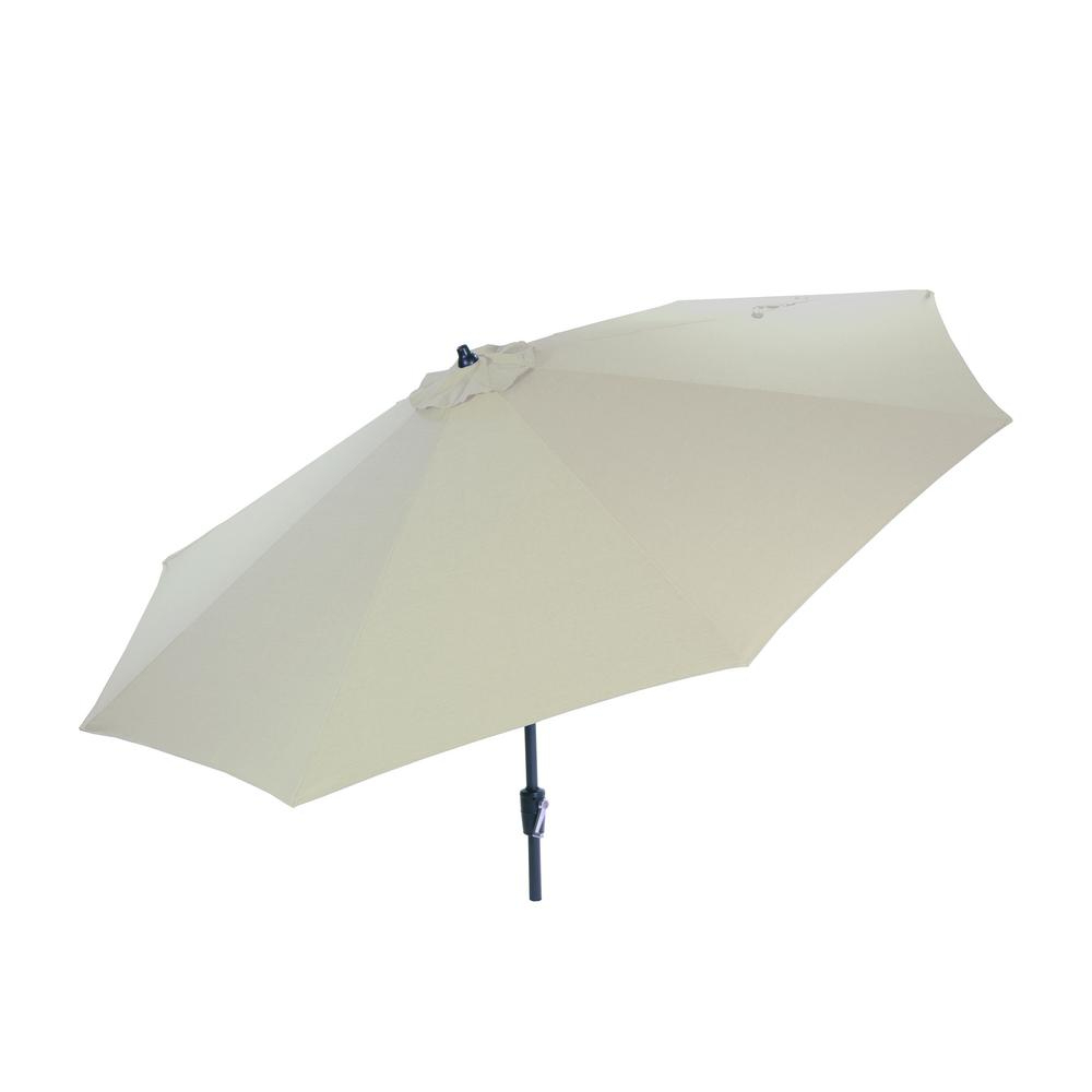 Emely Cantilever Sunbrella Umbrellas With Best And Newest Hampton Bay 10 Ft (View 12 of 20)