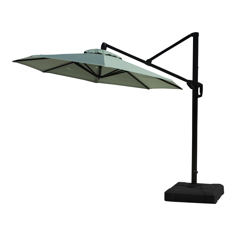 Emely Cantilever Umbrellas Pertaining To Recent Ceylon 10' Cantilever Sunbrella Umbrella (View 7 of 20)
