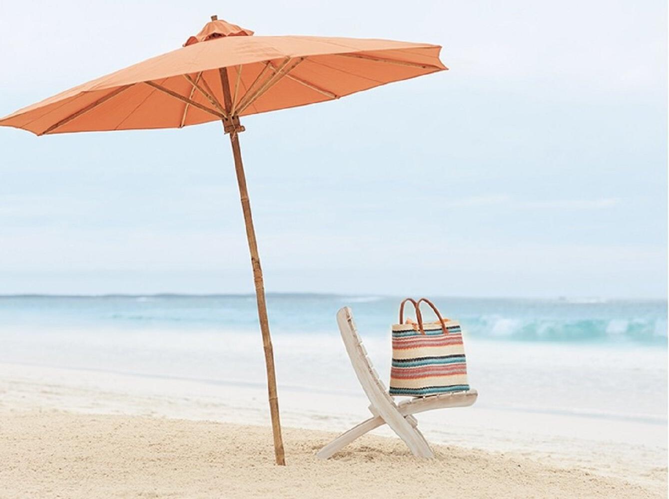 Esai Beach Umbrellas With Regard To Preferred Esai 7' Beach Umbrella (Gallery 2 of 20)