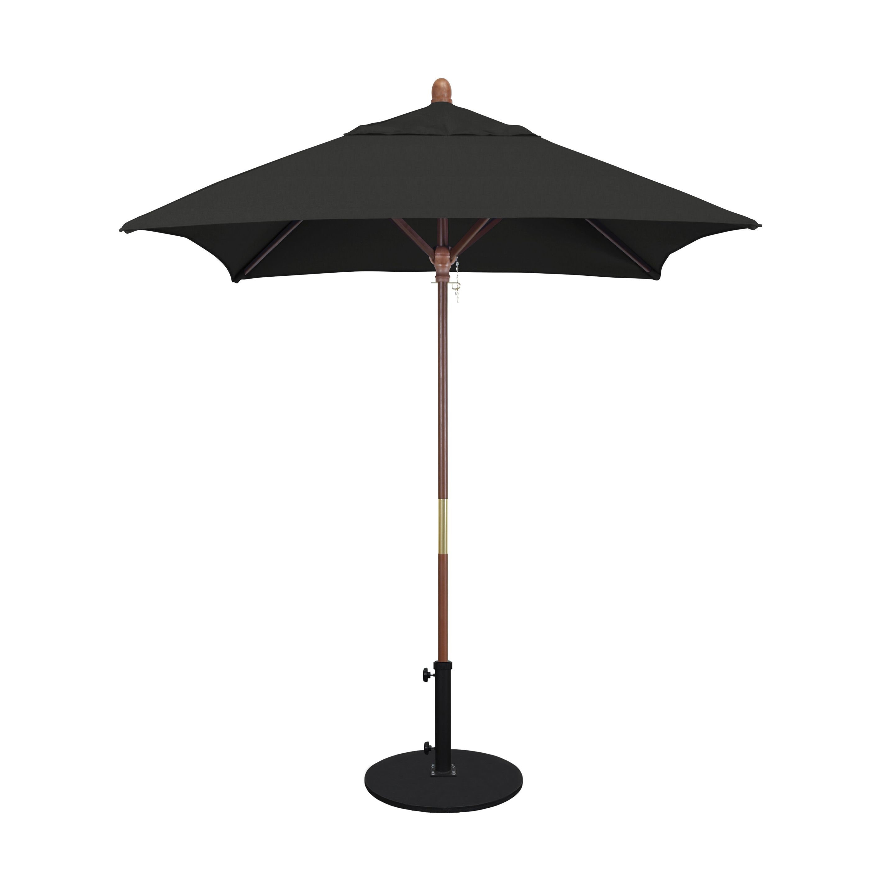 Ethan 6' Square Market Umbrella Within Fashionable Branam Lighted Umbrellas (View 6 of 20)