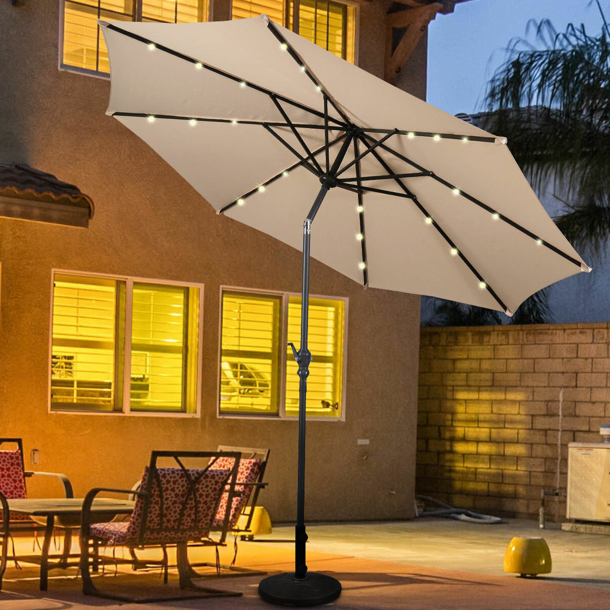 Fairford 10' Market Umbrella With Best And Newest Branscum Lighted Umbrellas (View 8 of 20)