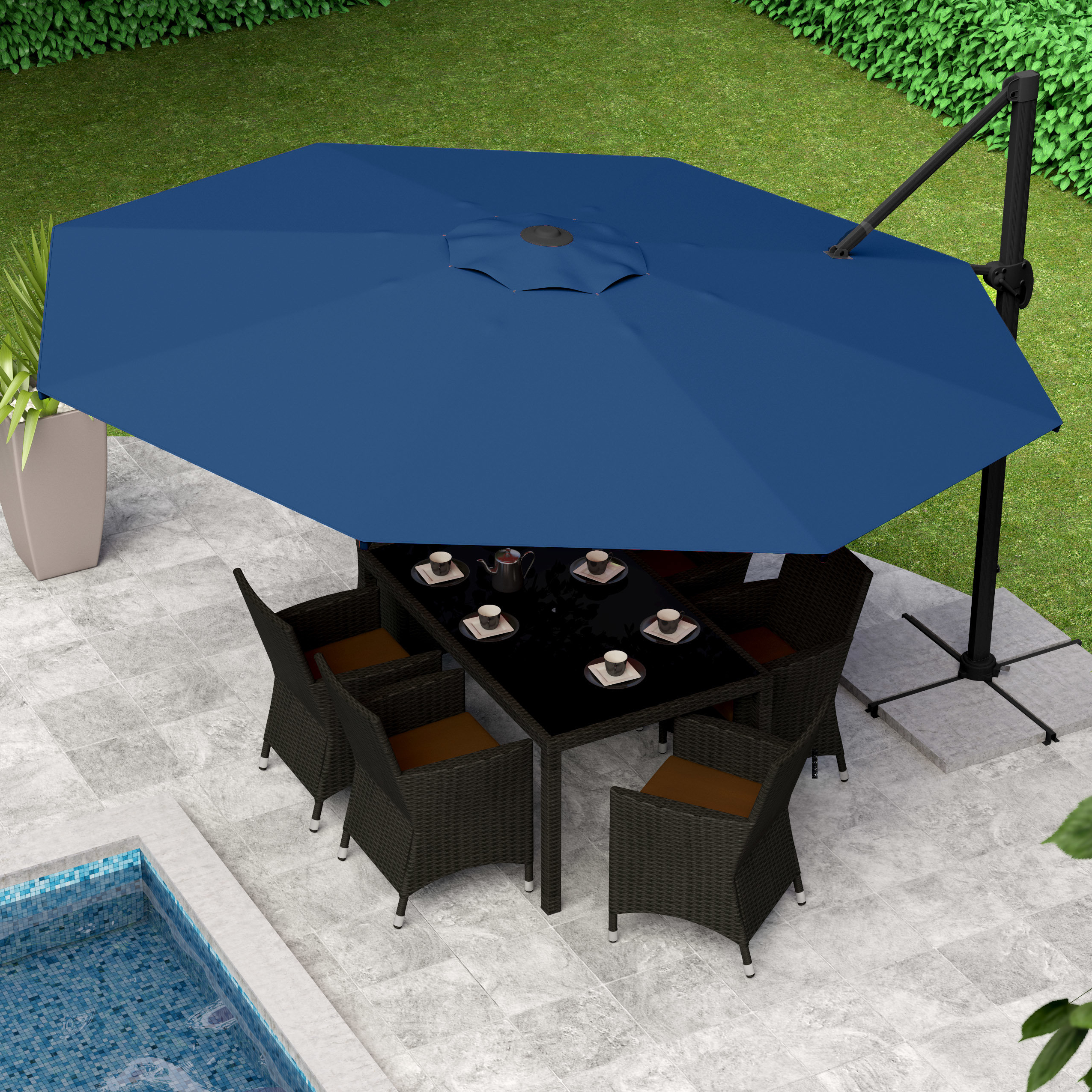 Famous Freda Cantilever Umbrellas With Beachcrest Home Gribble  (View 6 of 20)