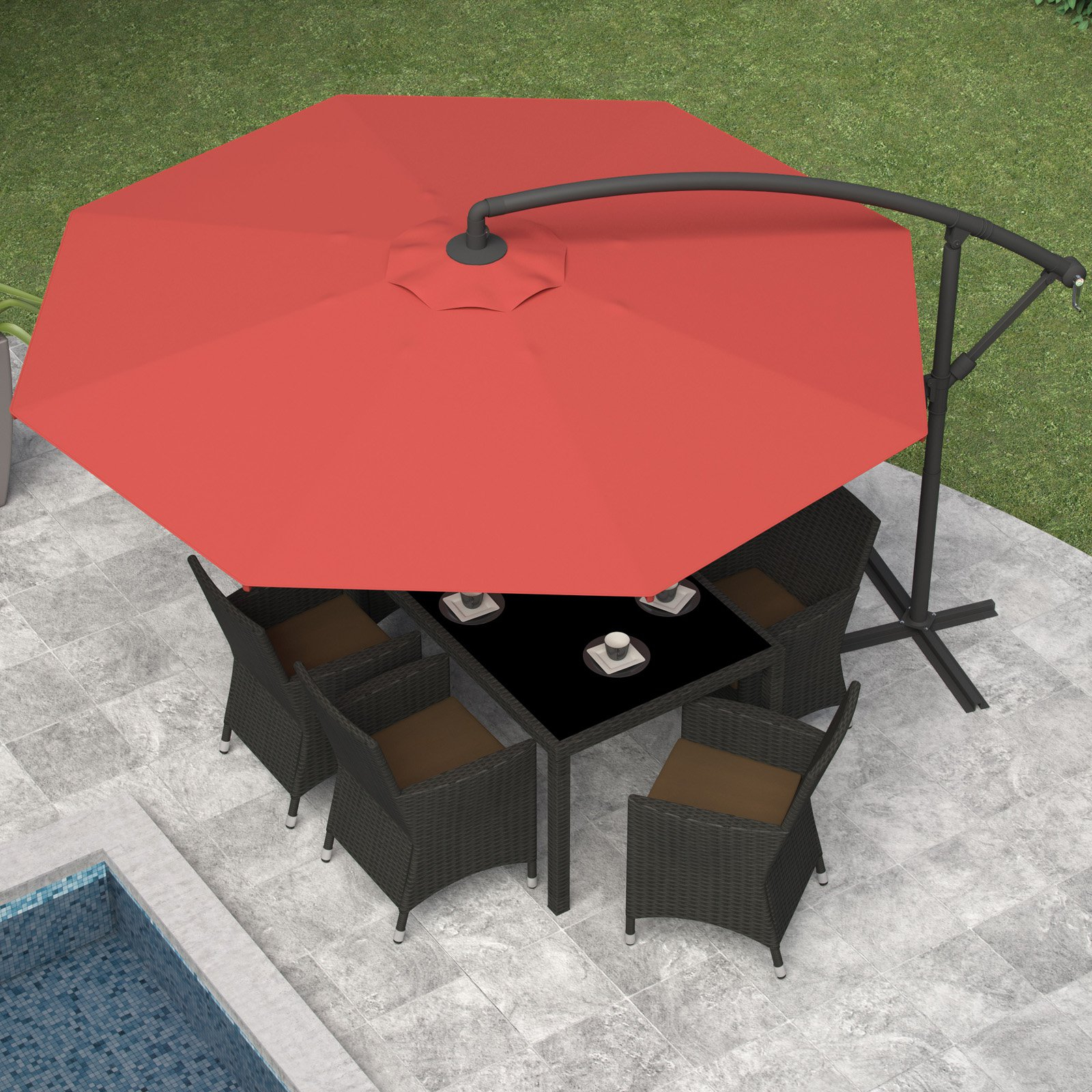 Famous Freda Cantilever Umbrellas With Corliving 10 Ft (View 7 of 20)