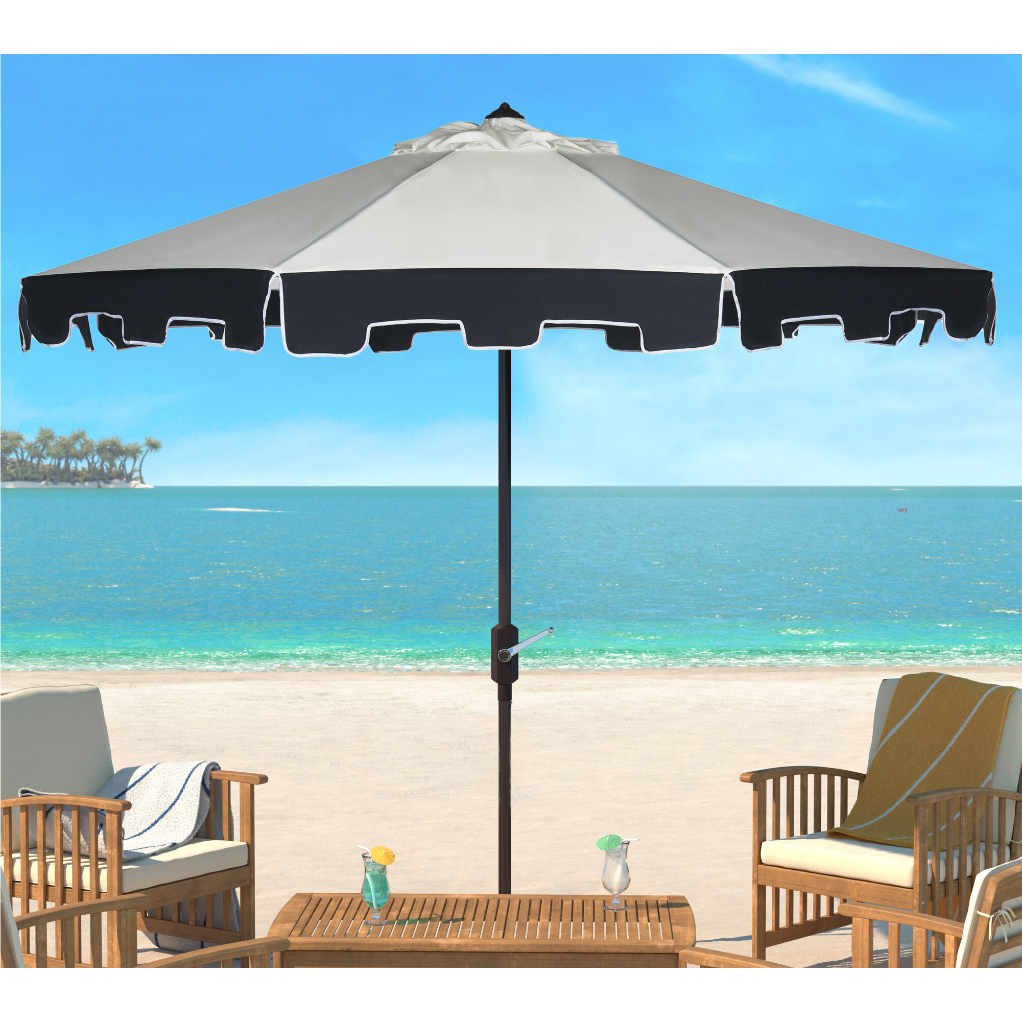 Famous Hyperion Market Umbrellas For Lizarraga 9' Market Umbrella (View 9 of 20)