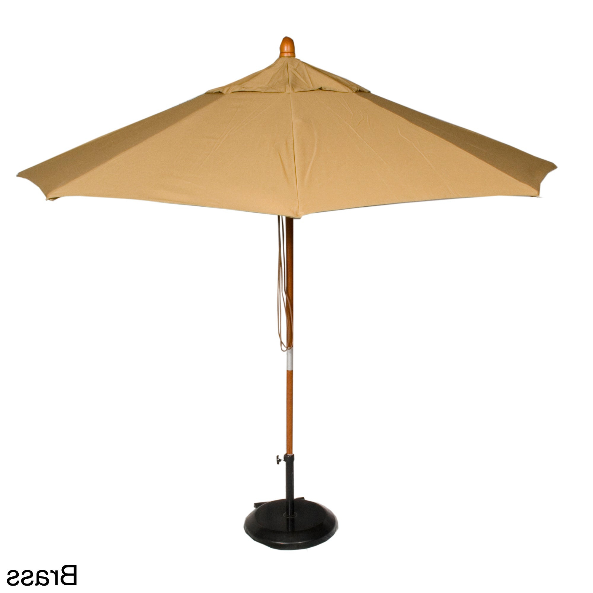 Famous Phat Tommy Cantilever Umbrellas With Regard To Phat Tommy 9 Foot Sunbrella Fabric Marenti Wood Market Patio Umbrella (View 2 of 20)