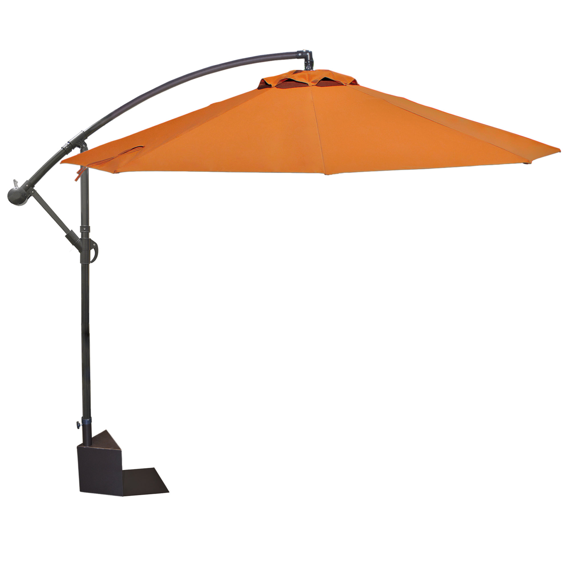 Famous Santiago 10' Cantilever Umbrella For Cockermouth Rotating Cantilever Umbrellas (View 15 of 20)