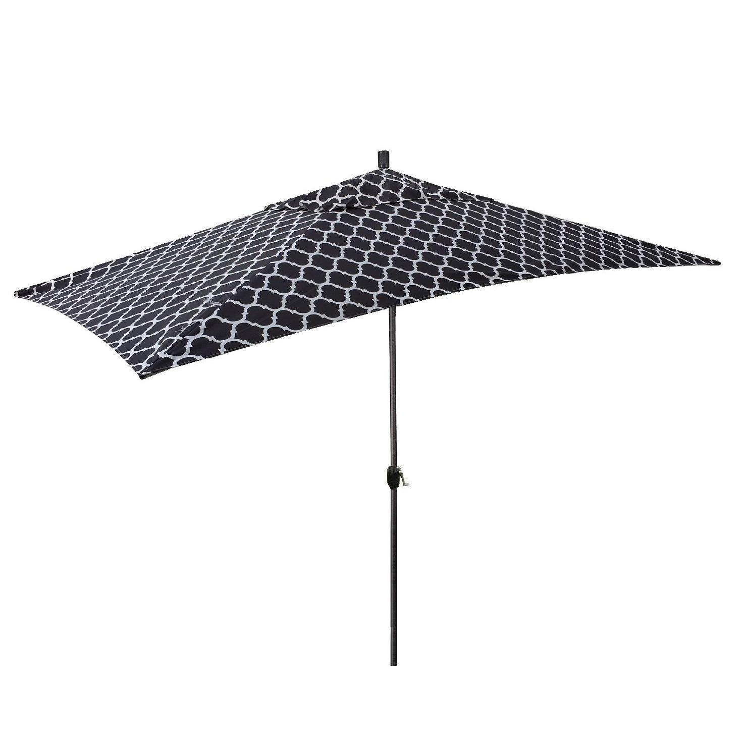 Famous Sherlyn 10' X 6' Rectangular Market Umbrella For Lonoke Patio Rectangular Market Umbrellas (View 4 of 20)